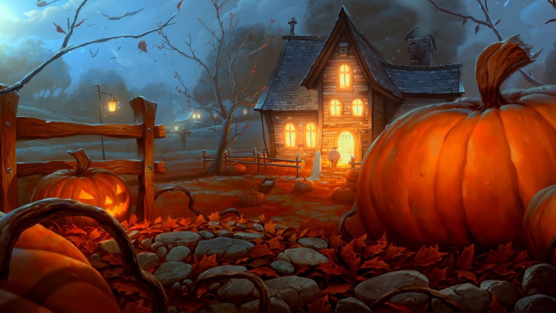 1920x1080 anatomy-of-halloween-wallpaper-for--hdtv-1080p-