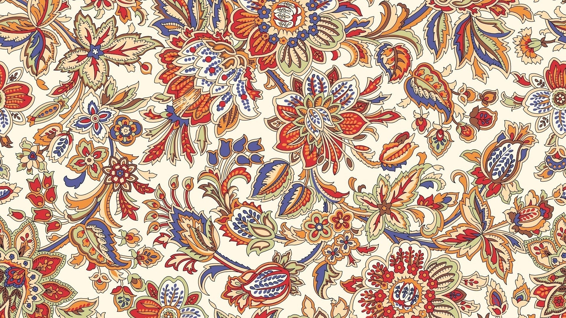 1920x1080 colorful leaves digital art flowers artwork white background pattern  ornamented carpet detailed ART design textile flooring