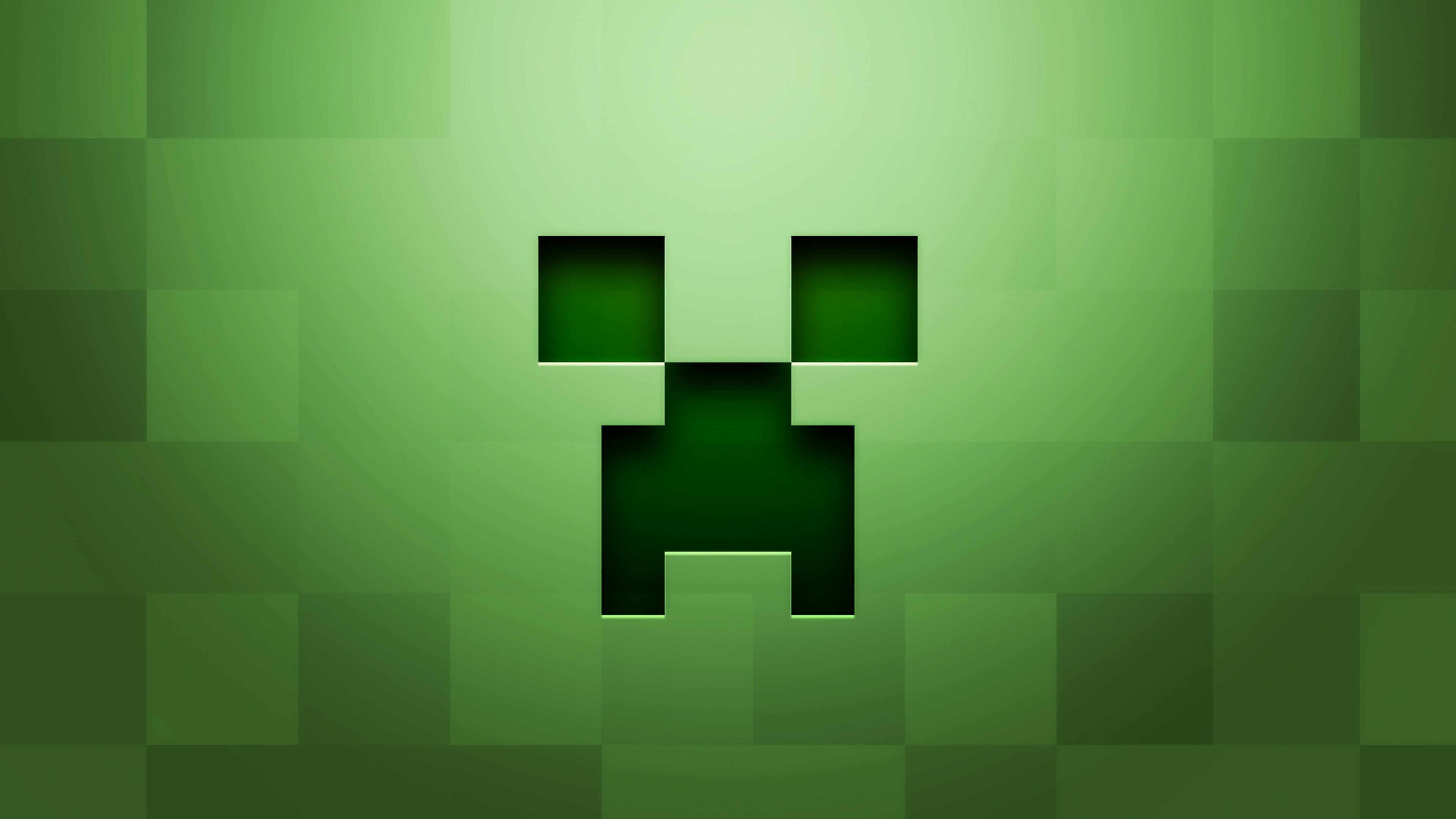 3840x2160 Preview wallpaper minecraft, background, graphics, green