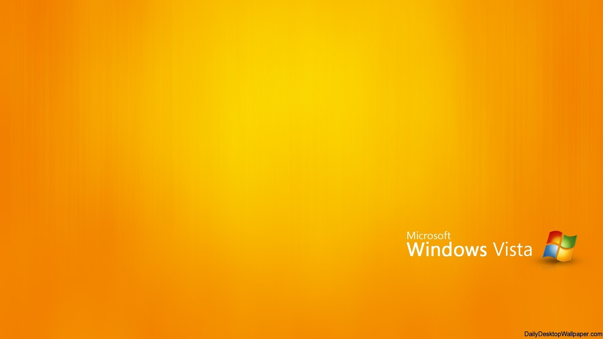 1920x1080 Orange Windows Vista Wallpaper