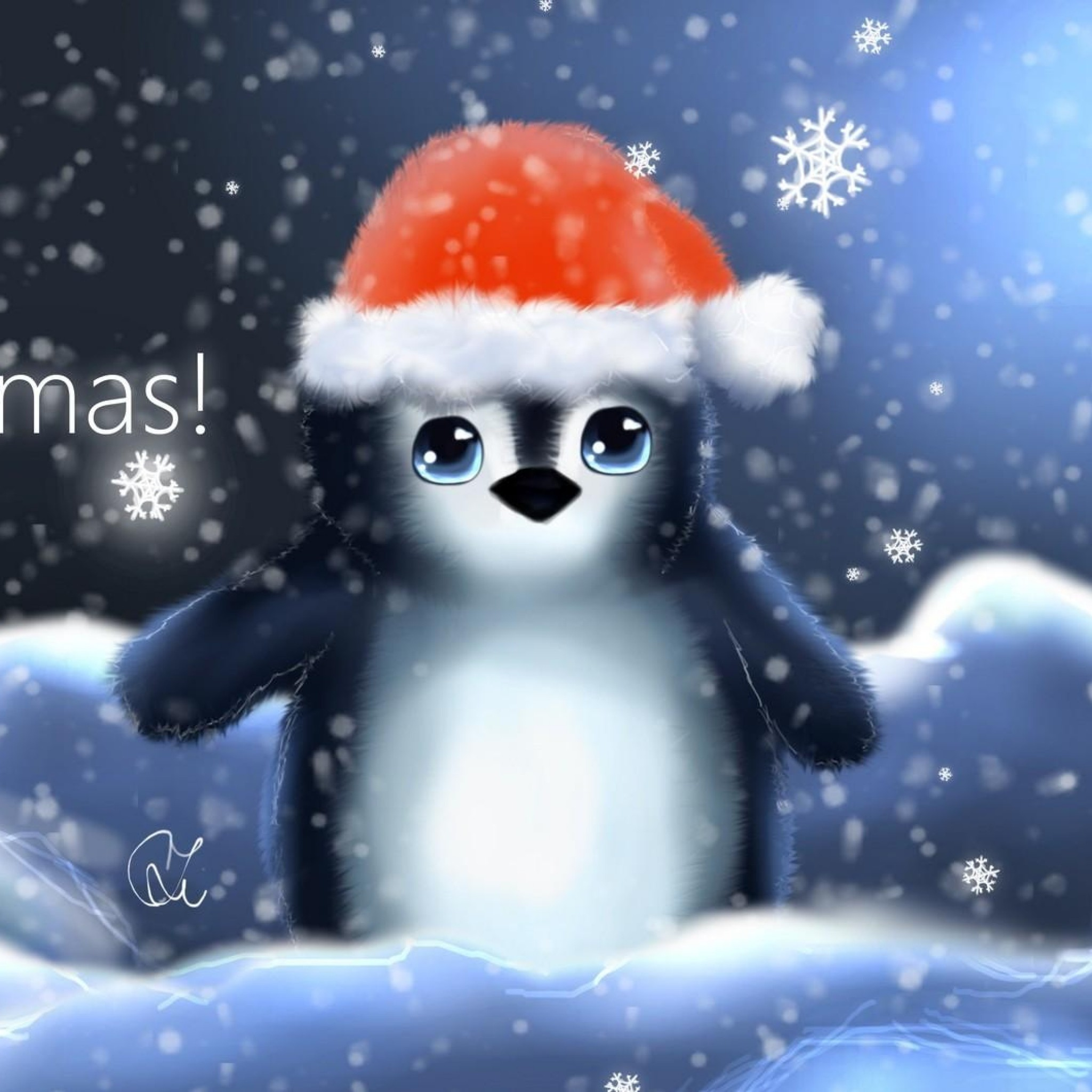 christmas penguin wallpaper  68  images