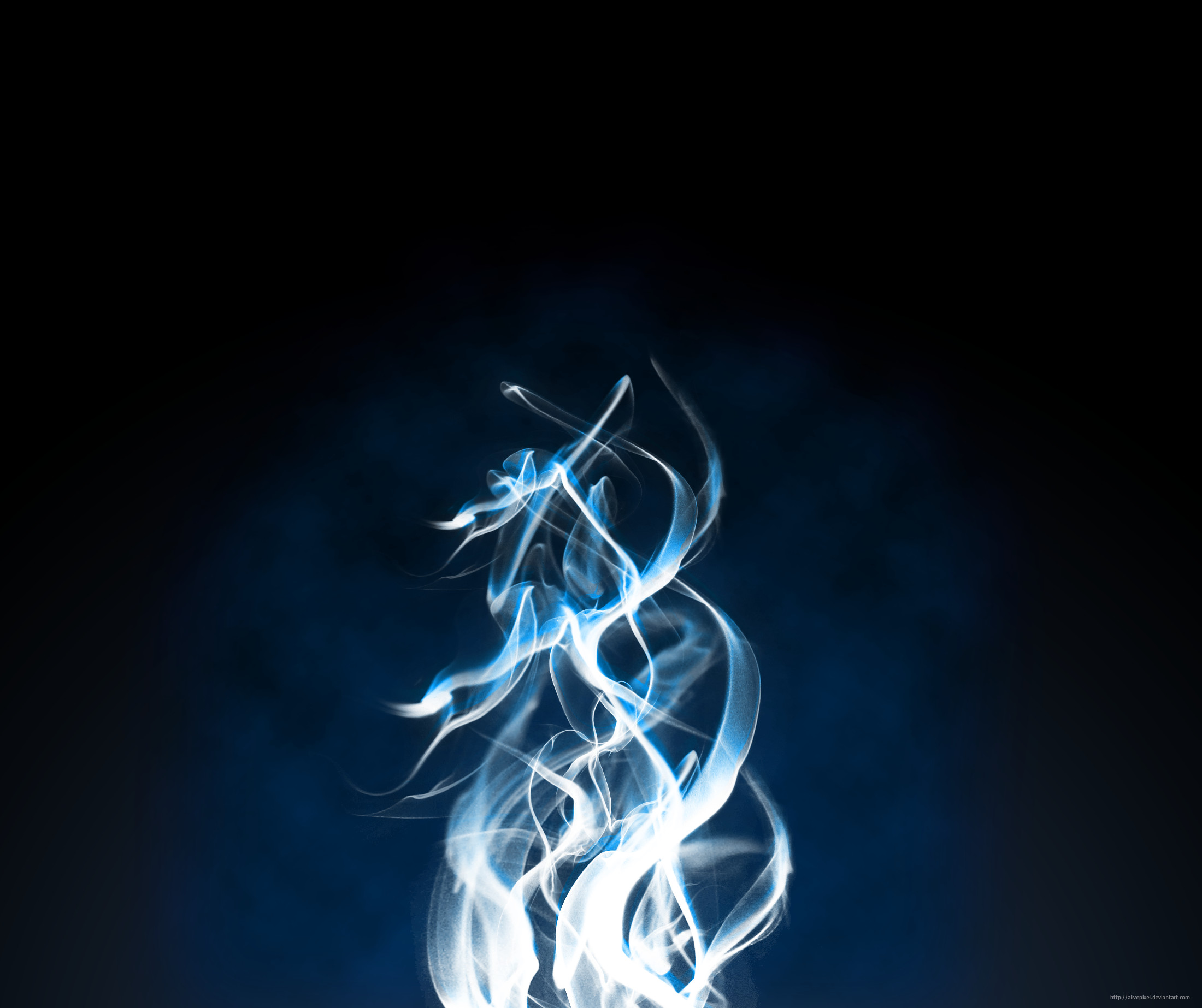 Blue Fire Heart Wallpaper