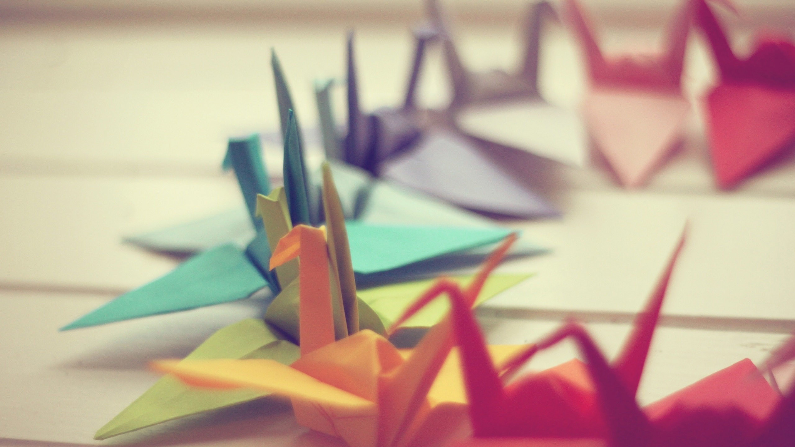 2560x1440 Colorful Origami Wallpaper