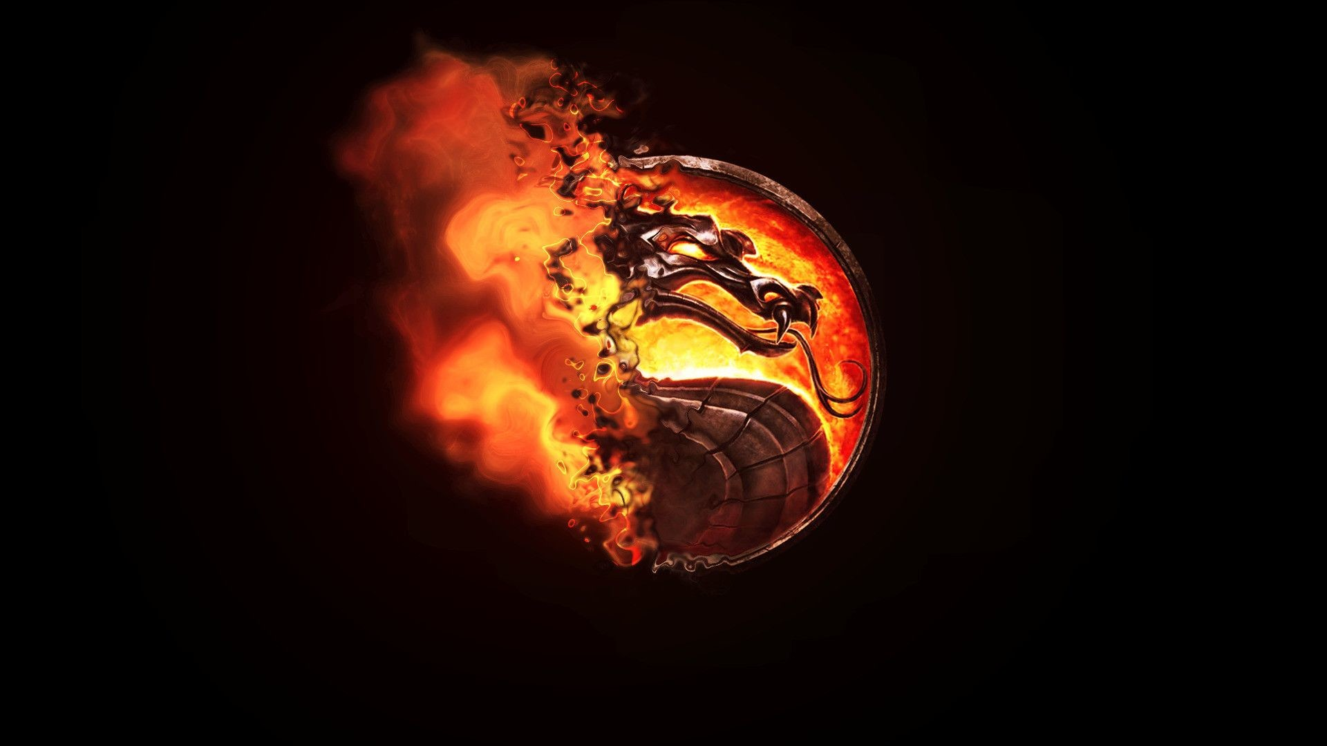1920x1080 Mortal Kombat, Dragon, Burning Wallpapers HD / Desktop and Mobile  Backgrounds