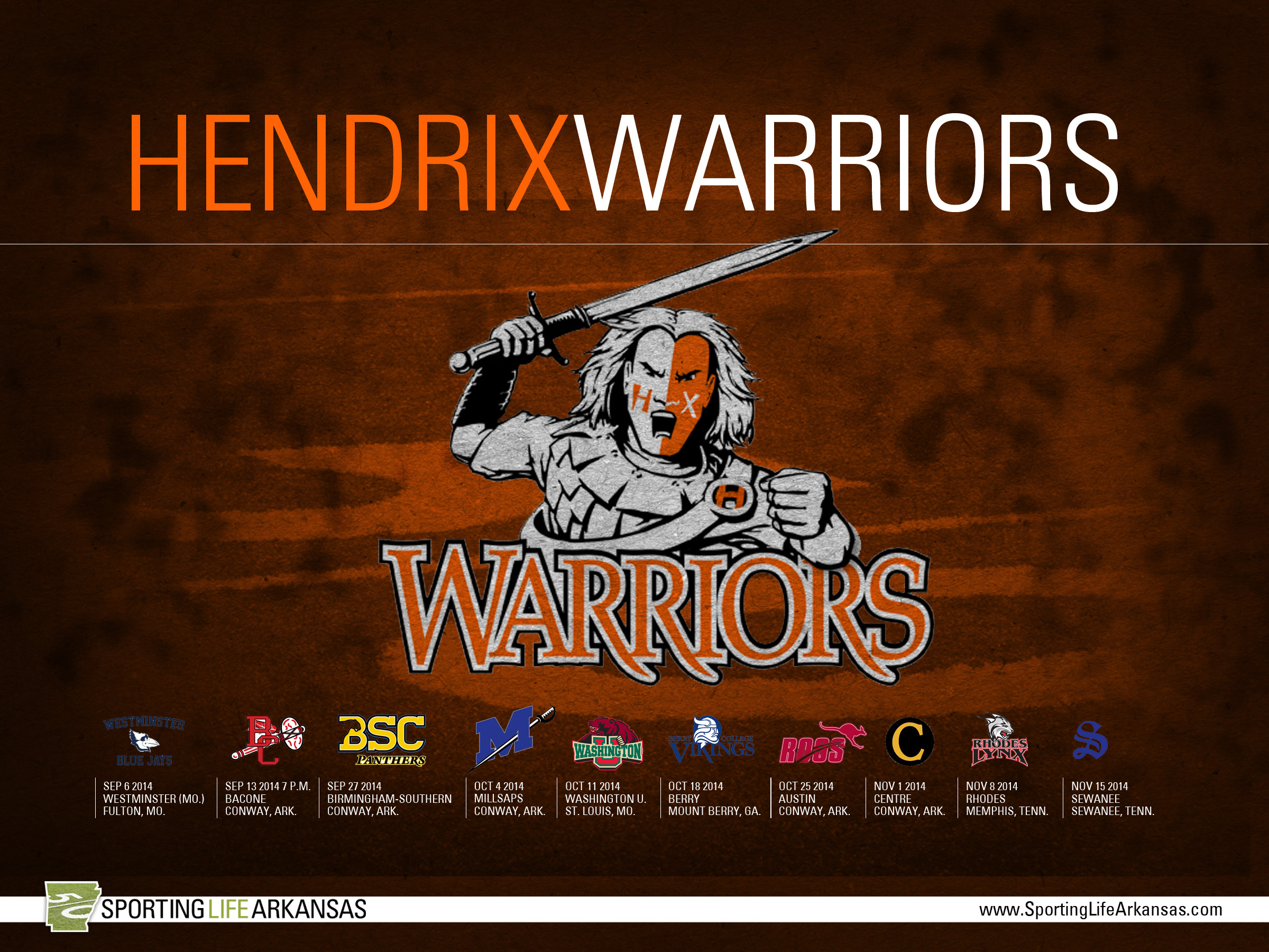 2400x1800 2014 Hendrix College Warriors Football Schedule Wallpaper