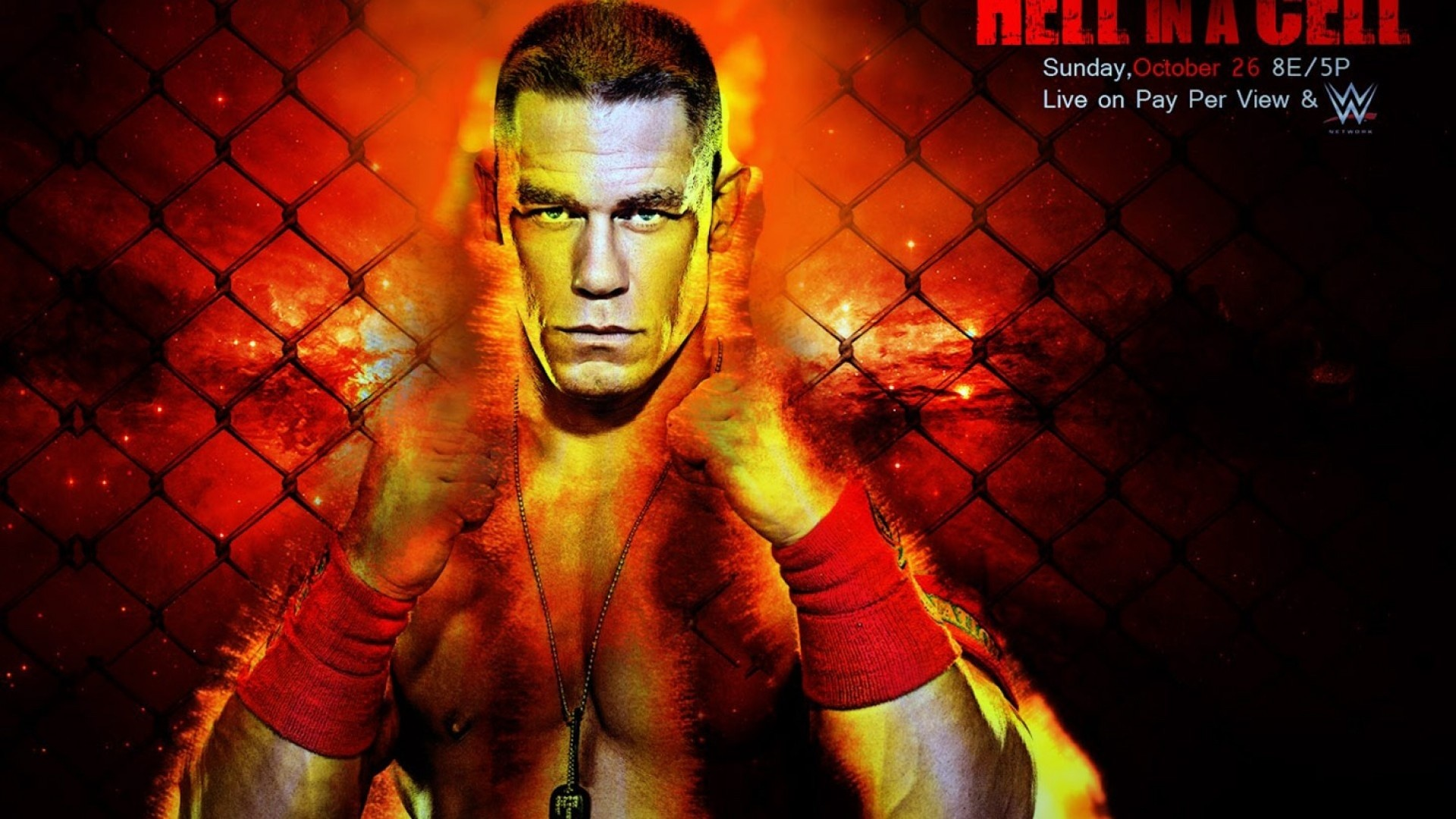 1920x1080 2014, Wwe, Wwf, Wrestling, John Cena, Hell In A Cell 2014