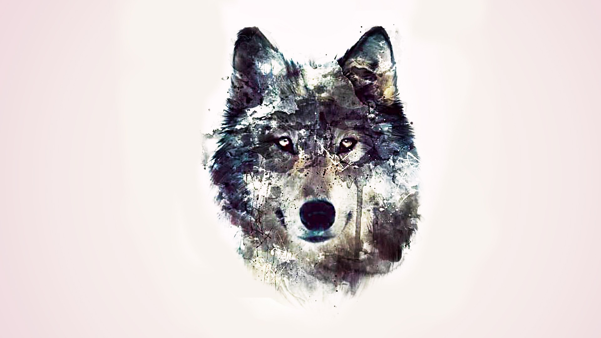 1920x1080 artwork of the wolf - Animal Wallpapers - Hi-Wallpapers.com
