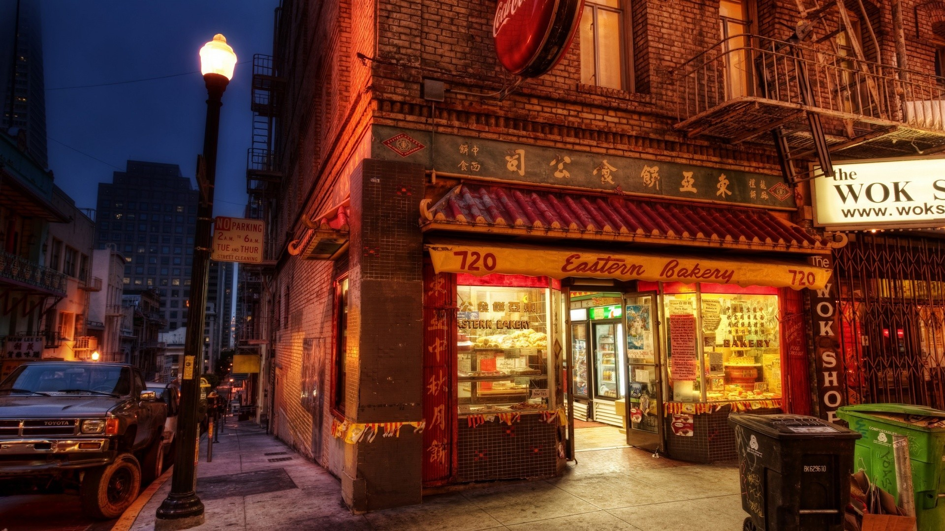 1920x1080 Bakery Chinatown New York China Town Street Store City Lights Background  Pictures -