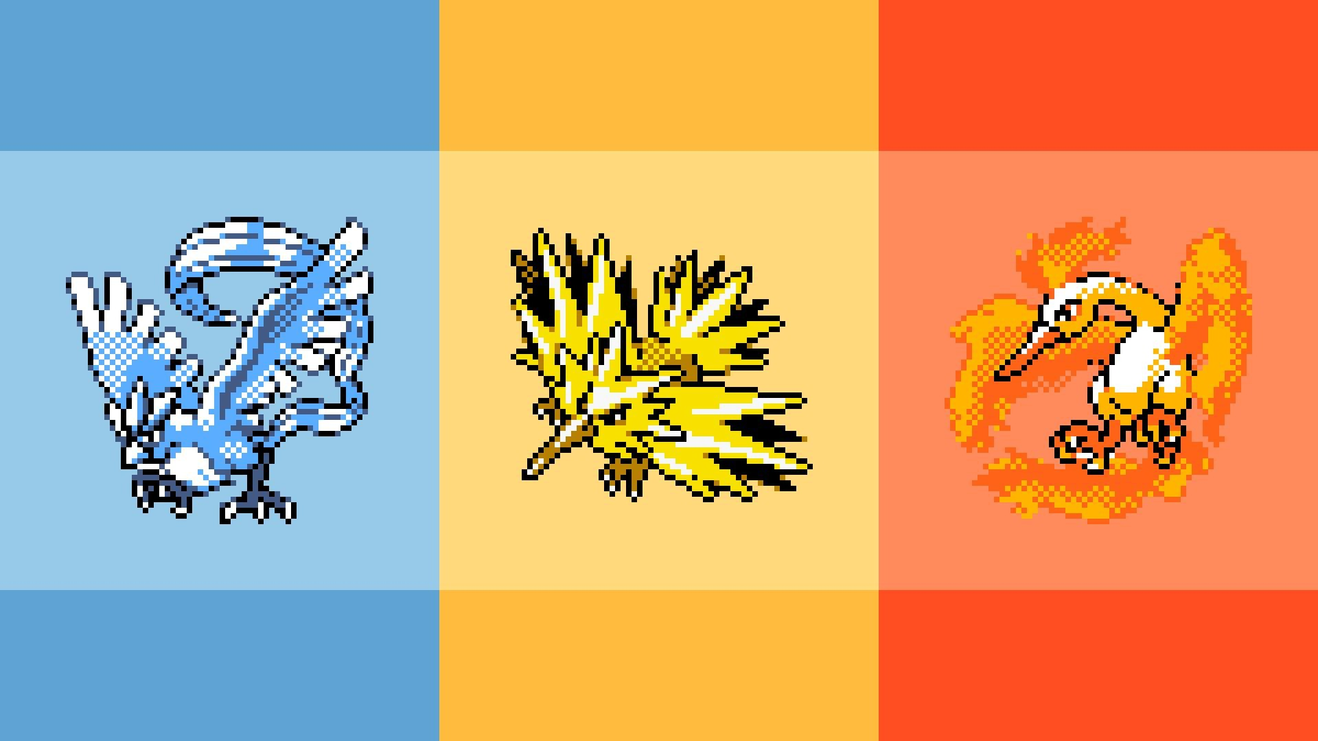 1920x1080 Retro Legendary Pokemon Wallpaper