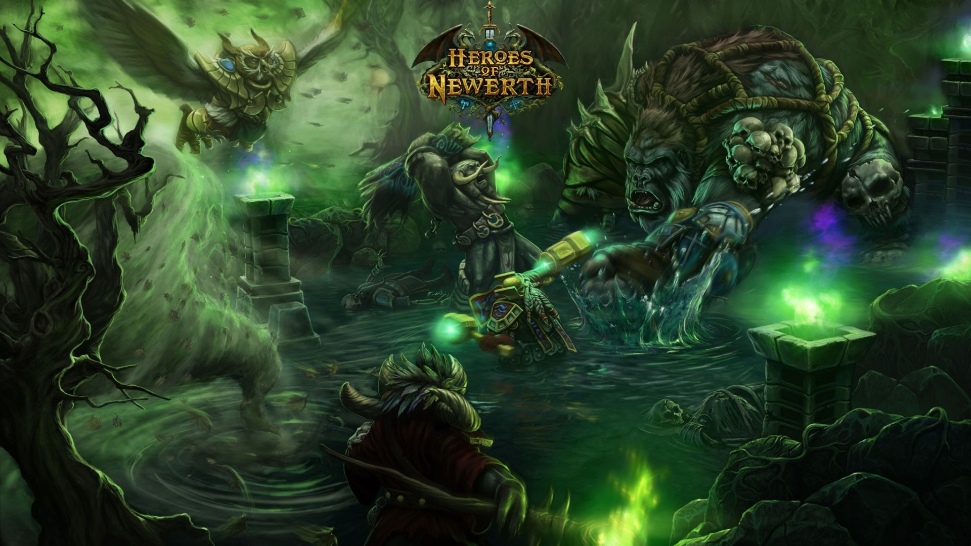 1920x1080 Preview Wallpaper World Of Warcraft Heroes Newerth Characters Energy