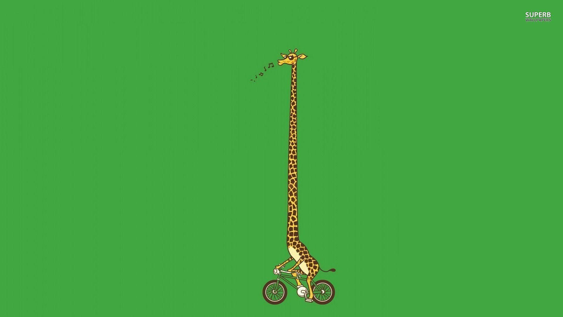 1920x1080 Biking giraffe wallpaper - Funny wallpapers - #