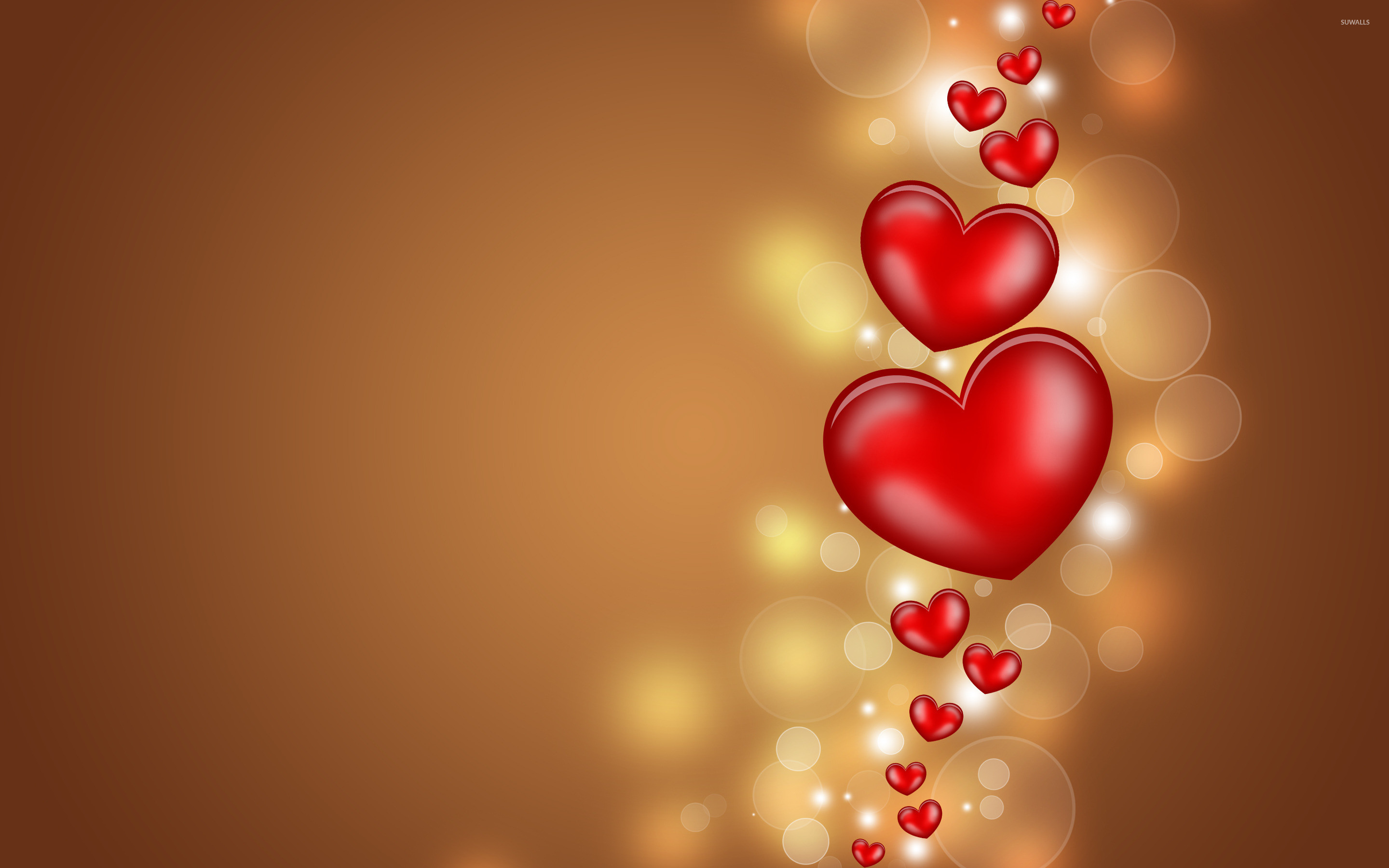 2880x1800 Floating hearts wallpaper