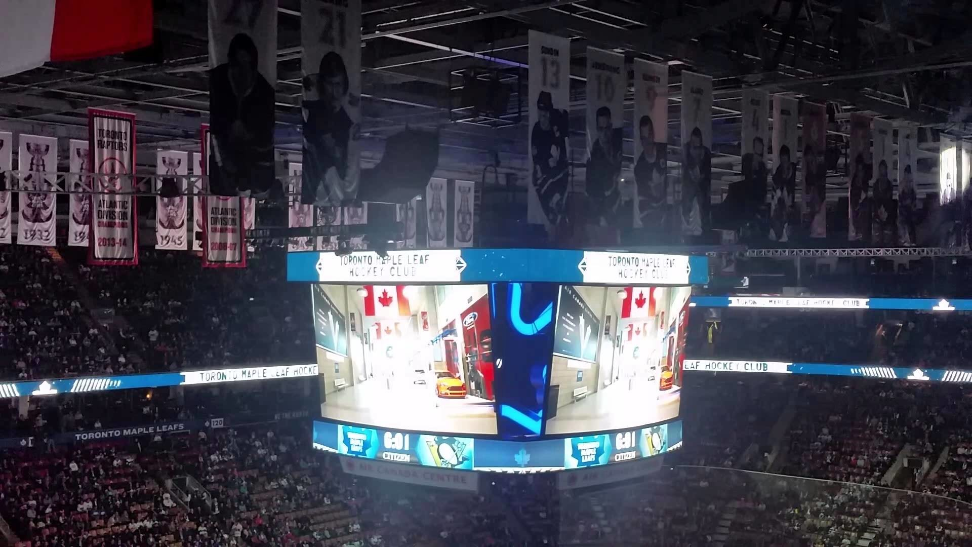 1920x1080 Toronto Maple Leafs light show 2015-10-31 - YouTube