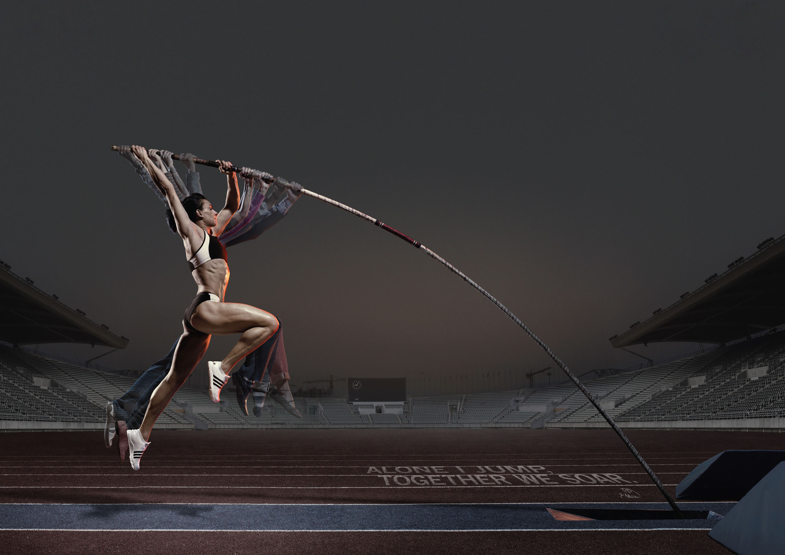 2560x1810 Pole vault Wallpaper, pole, girl, athlete, advertising, adidas .