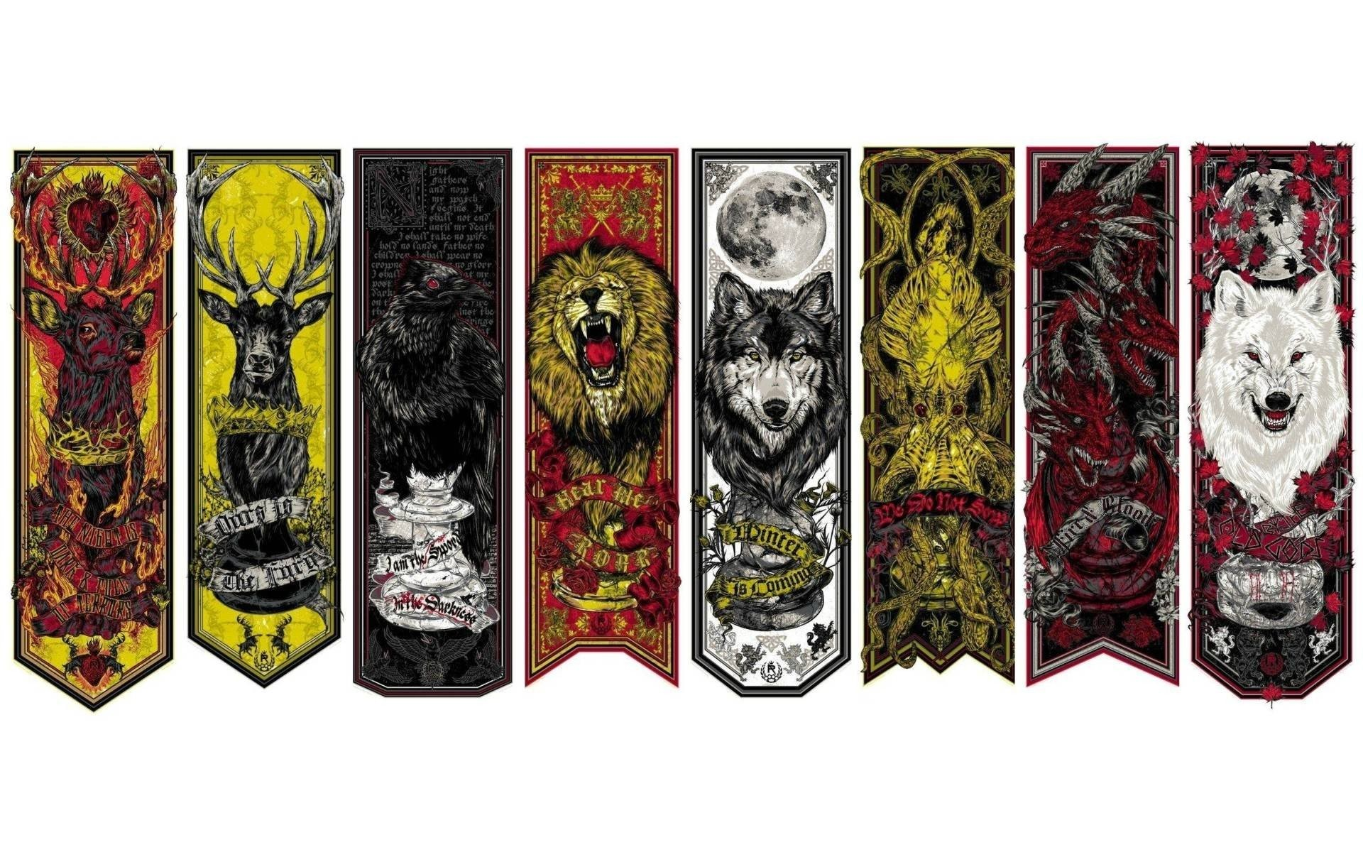 1920x1200 Game of Thrones house crests wallpaper, Game of Thrones house crests TV  Show HD desktop wallpaper