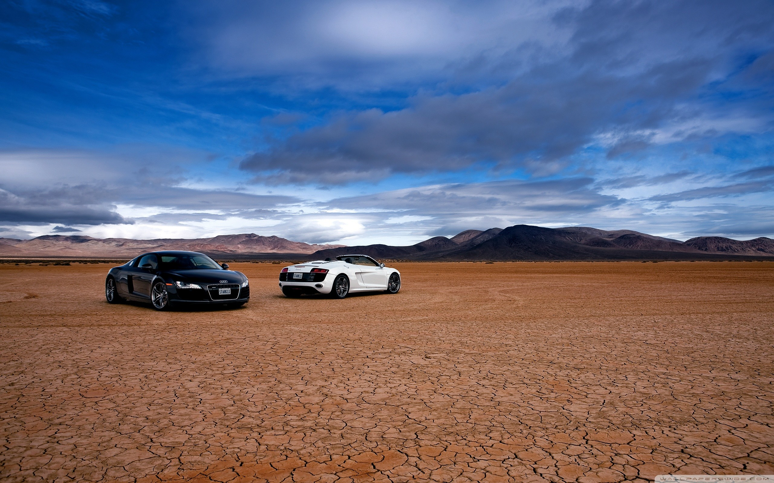 2560x1600 Audi R8 In The Desert HD Wide Wallpaper for Widescreen