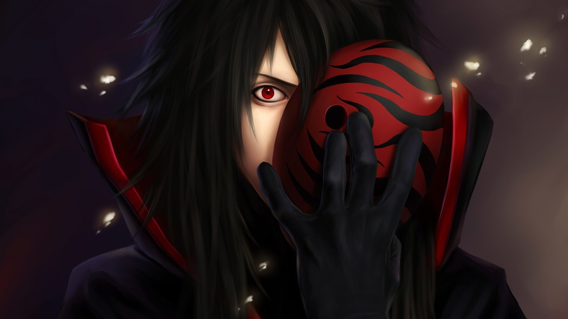 1920x1080  Wallpaper naruto, uchiha, madara, sharingan, man, mask