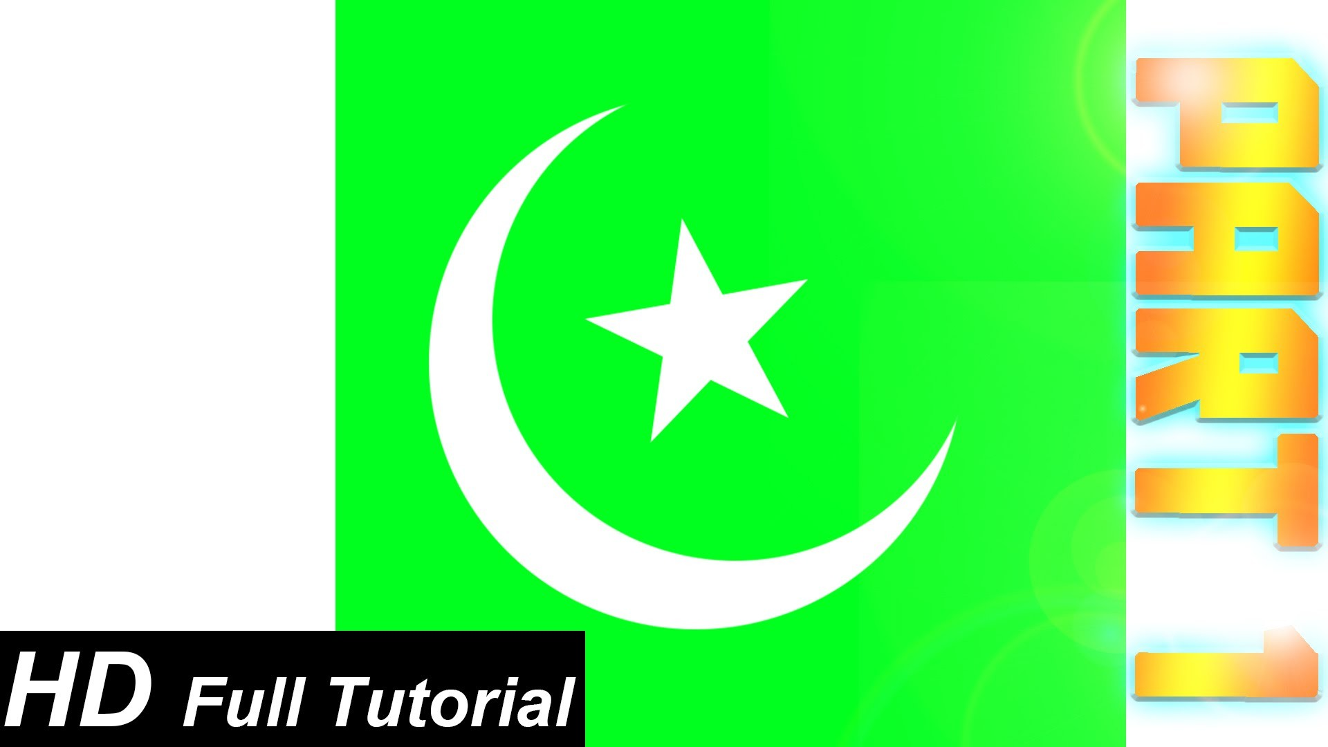 1920x1080 Photoshop Tutorial: How To Create A S. Pakistani Flag In Photoshop (In  URDU), Part 1 - YouTube