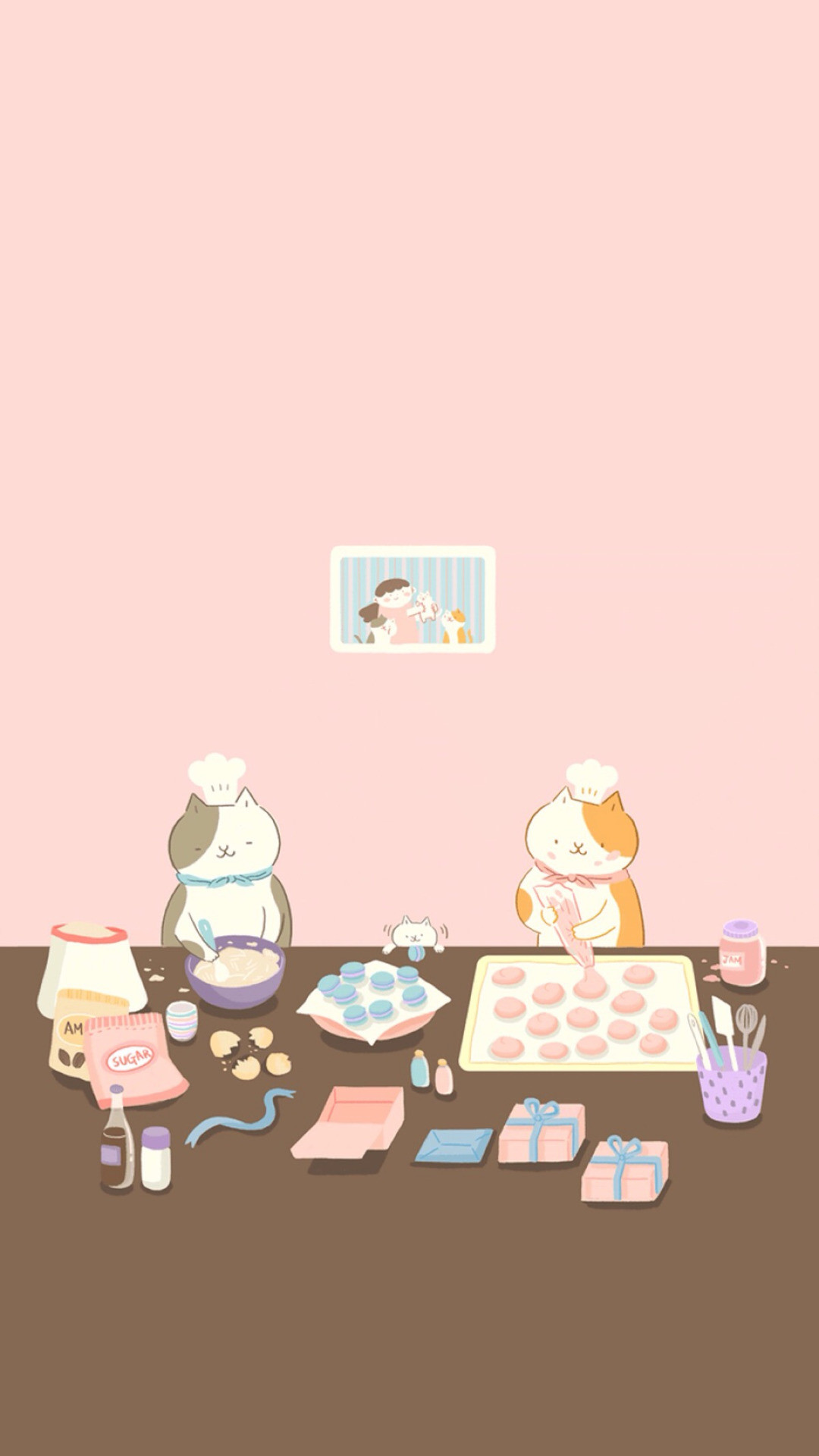 1080x1920 Neko Atsume Cat Family. Tap to see more Neko Atsume the cat wallpapers,  backgrounds