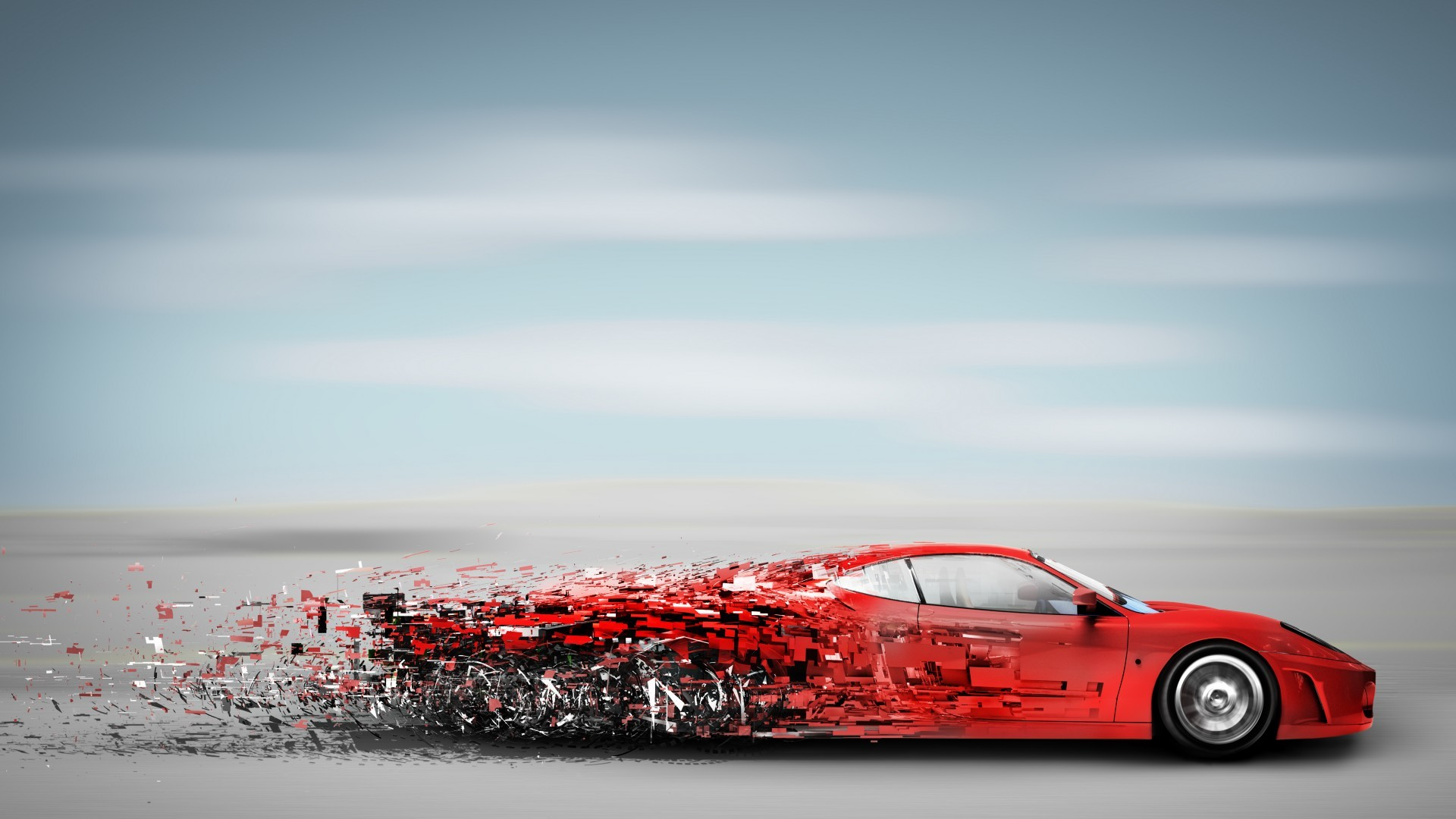 1920x1080 Cars vehicles cg digital art fragment pieces red wallpaper |  |  33310 | WallpaperUP