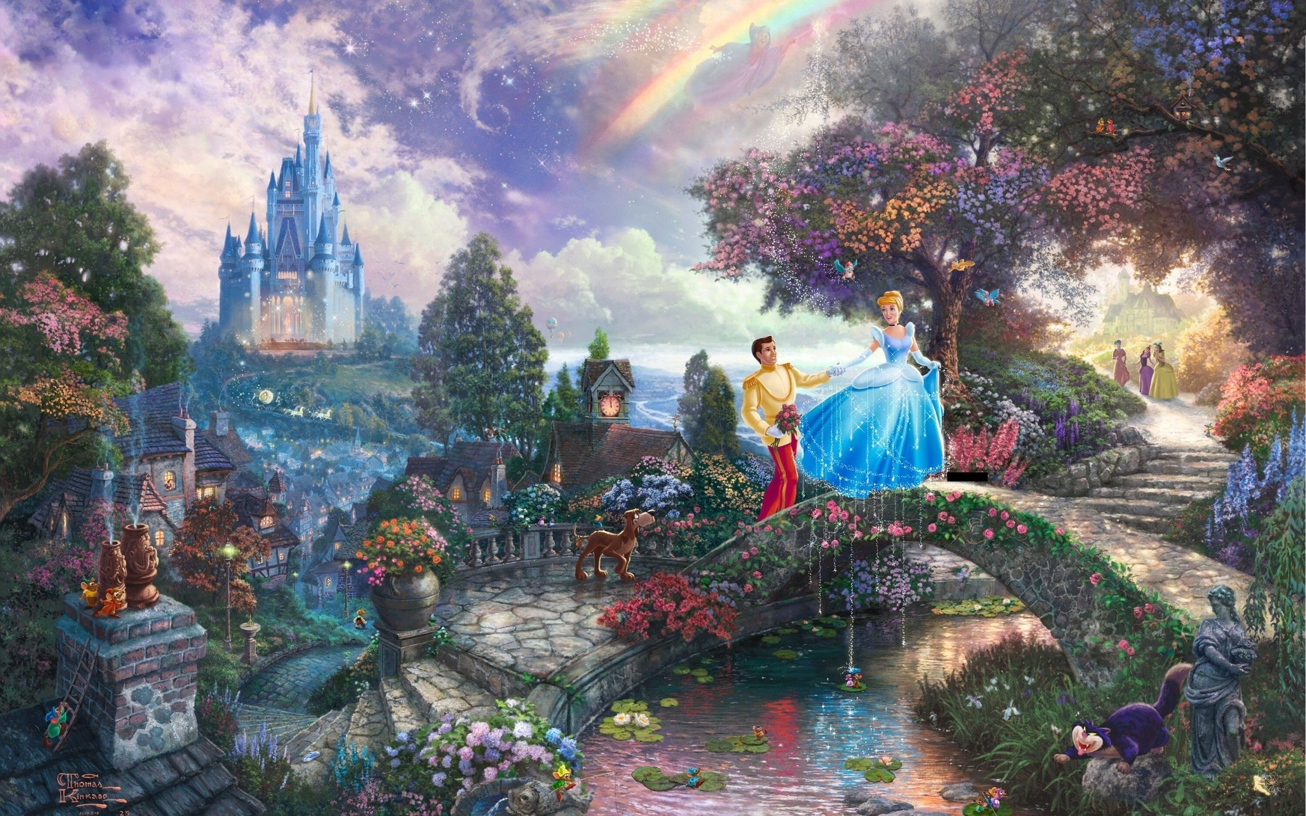 2560x1600 Thomas Kinkade Disney Dreams Collection Wallpaper Thomas kinkade