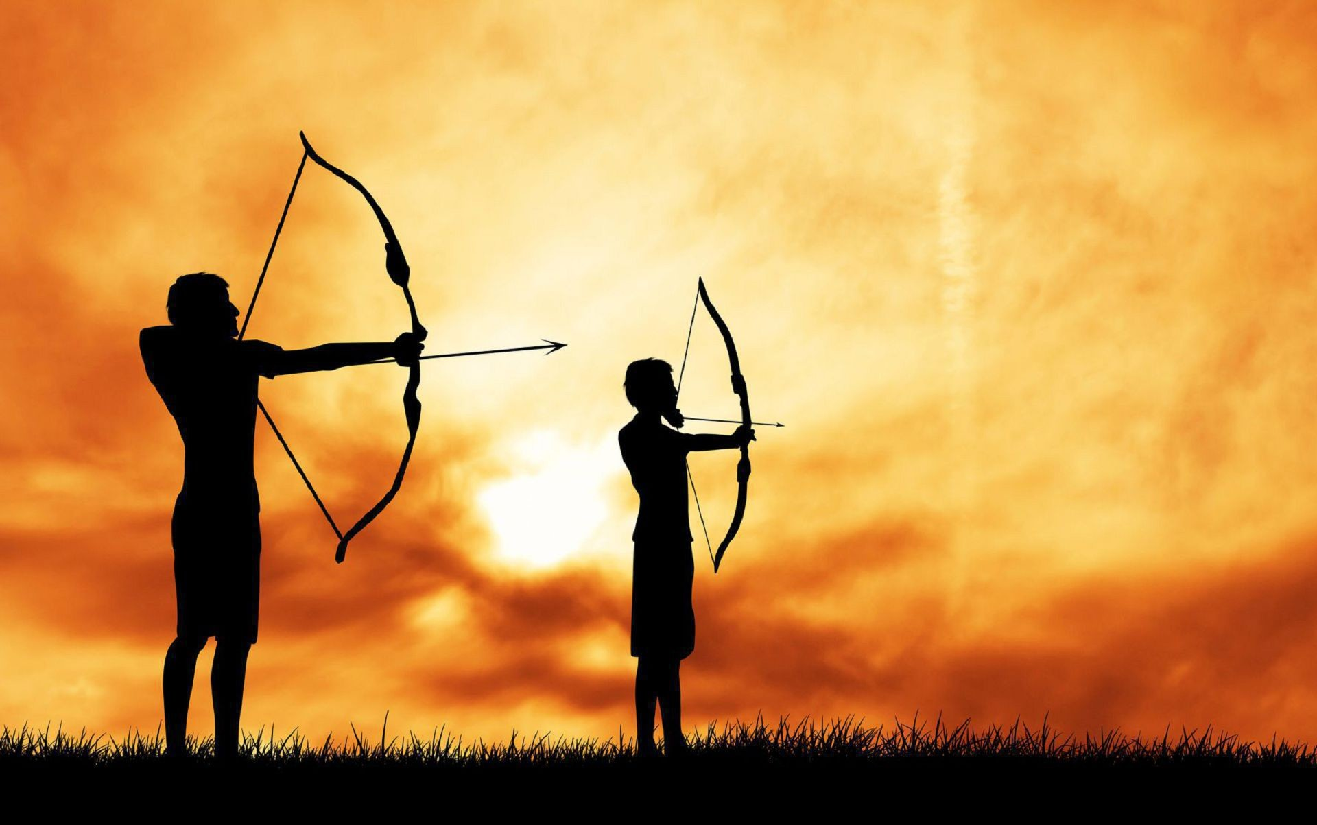 1920x1203 Archery background stock illustration. Illustration of challenge
