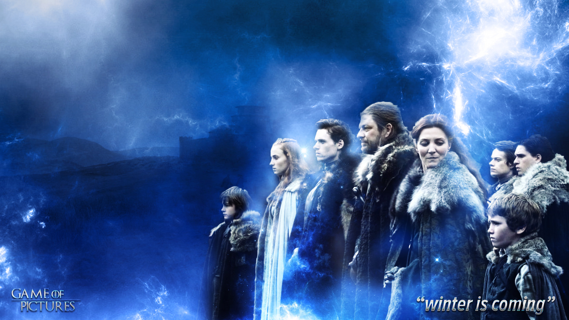 1920x1080 ... Game of Thrones House Stark Wallpaper (Season 1) by goodstart376