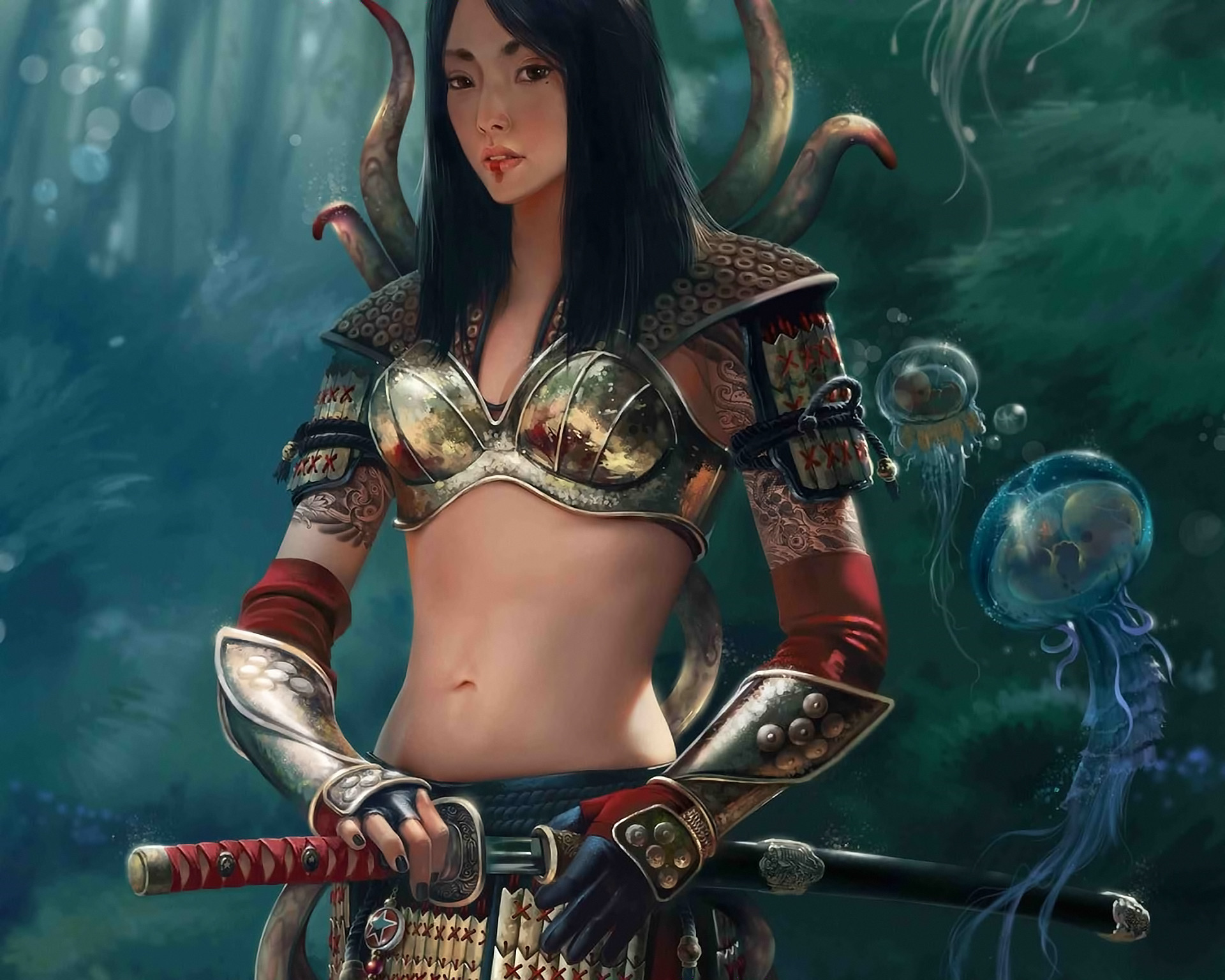 Female Anime Samurai Wallpaper 65 Images