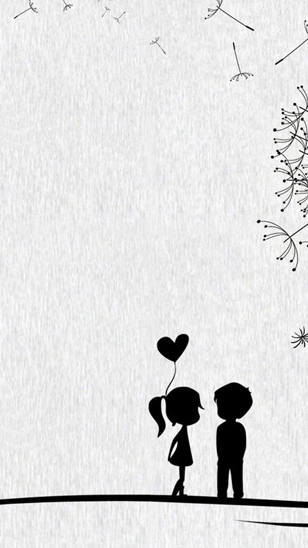 1080x1920 Cute Sweet Love Little Couple iPhone 6 Wallpaper Download