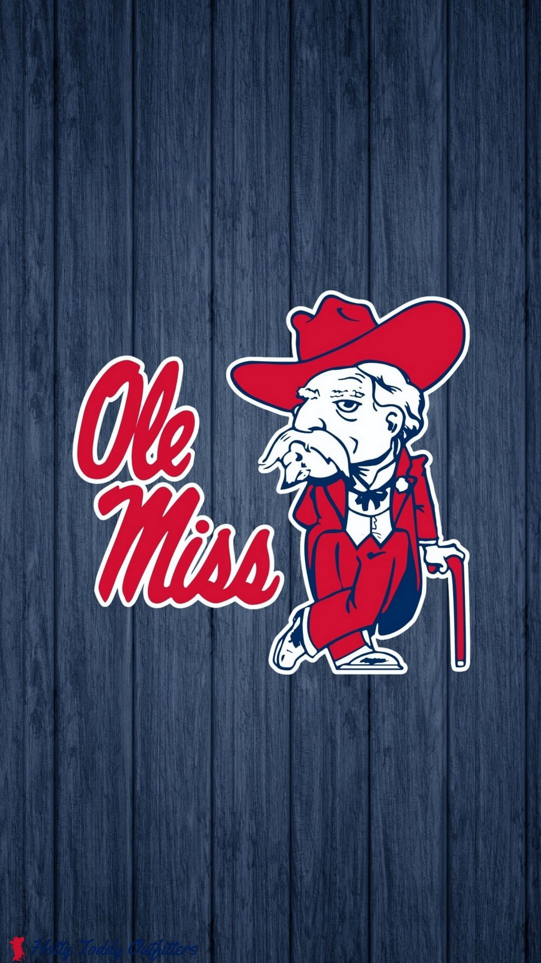 1080x1920 Ole Miss Colonel Reb Logo iPhone Wallpaper