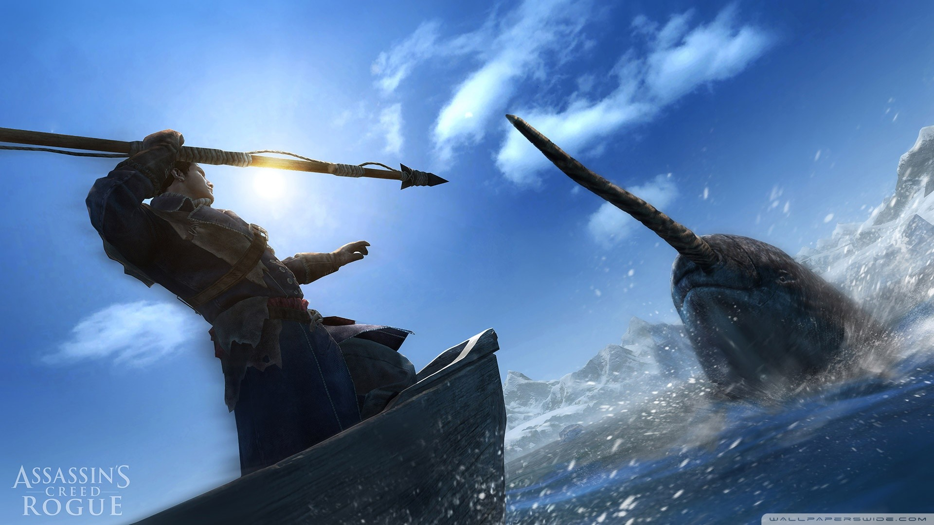 1920x1080 Assassins Creed Rogue Hunting Narwhal HD Wide Wallpaper for Widescreen