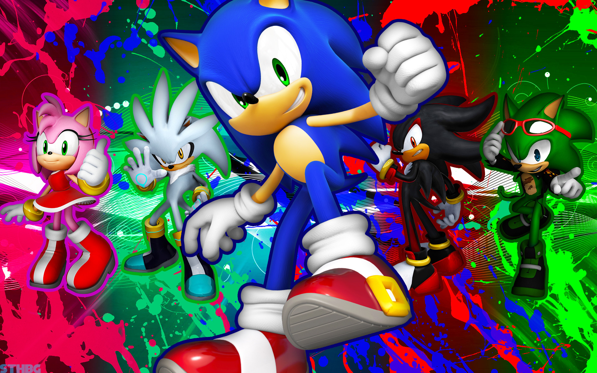 1920x1200 ... SonicTheHedgehogBG Sonic,Shadow,Silver,Scourge And Amy - Wallpaper by  SonicTheHedgehogBG