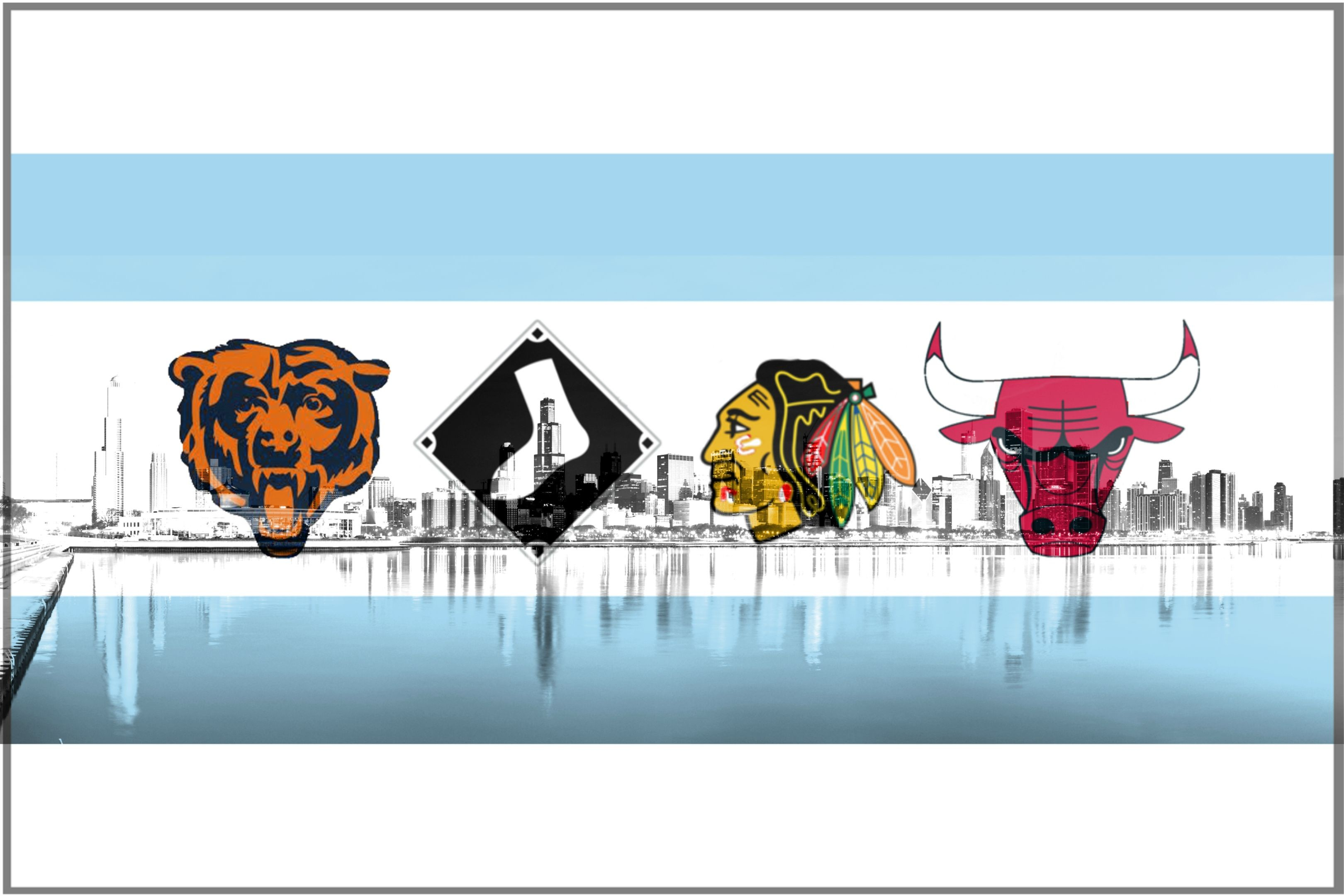 Chicago Sports Wallpaper Iphone 6: Chicago Flag IPhone Wallpaper (65+ Images