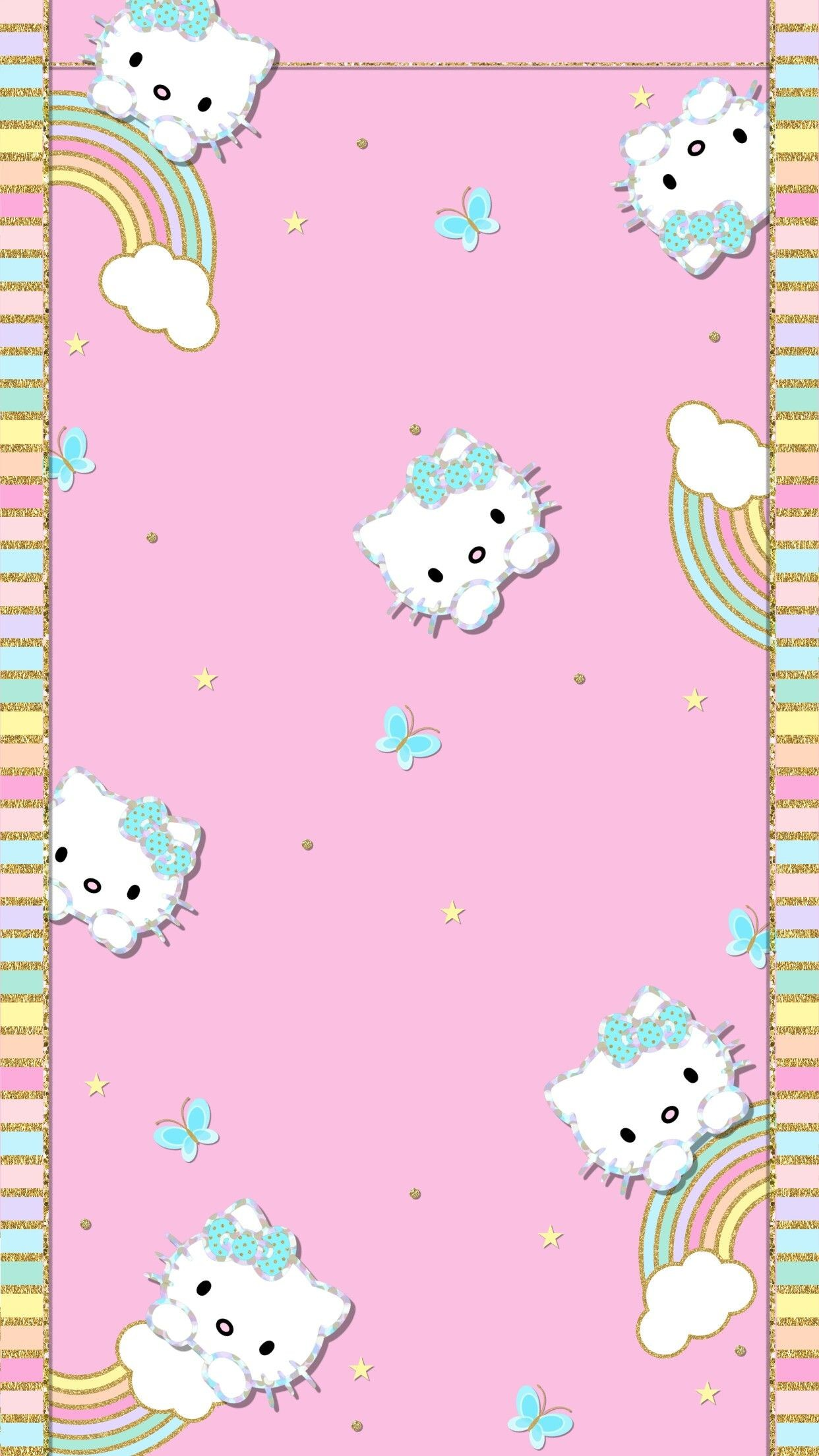1242x2208 Hello Kitty Cool Backgrounds Wallpapers, Phone Backgrounds, Iphone  Wallpapers, Hello Kitty Backgrounds