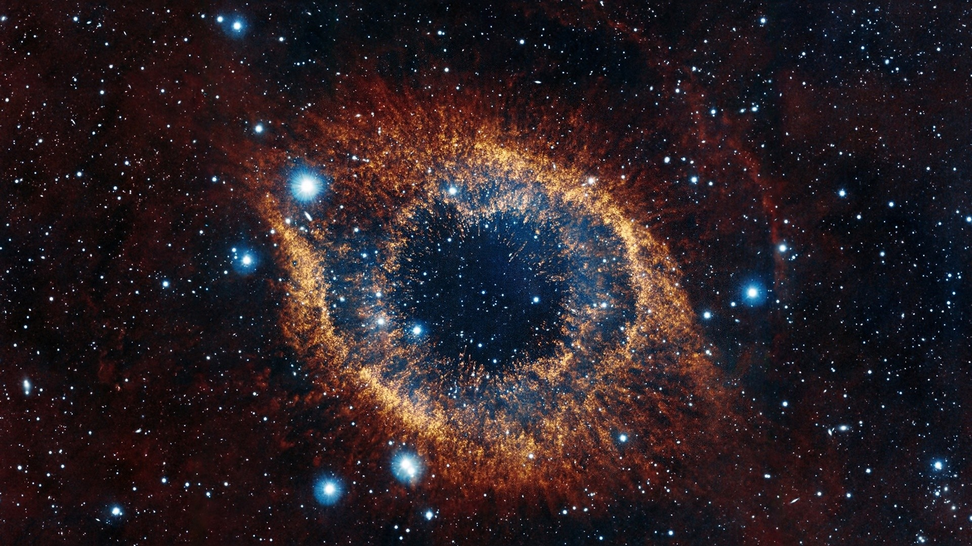 1920x1080  Wallpaper helix nebula, space, stars, explosion, brilliance