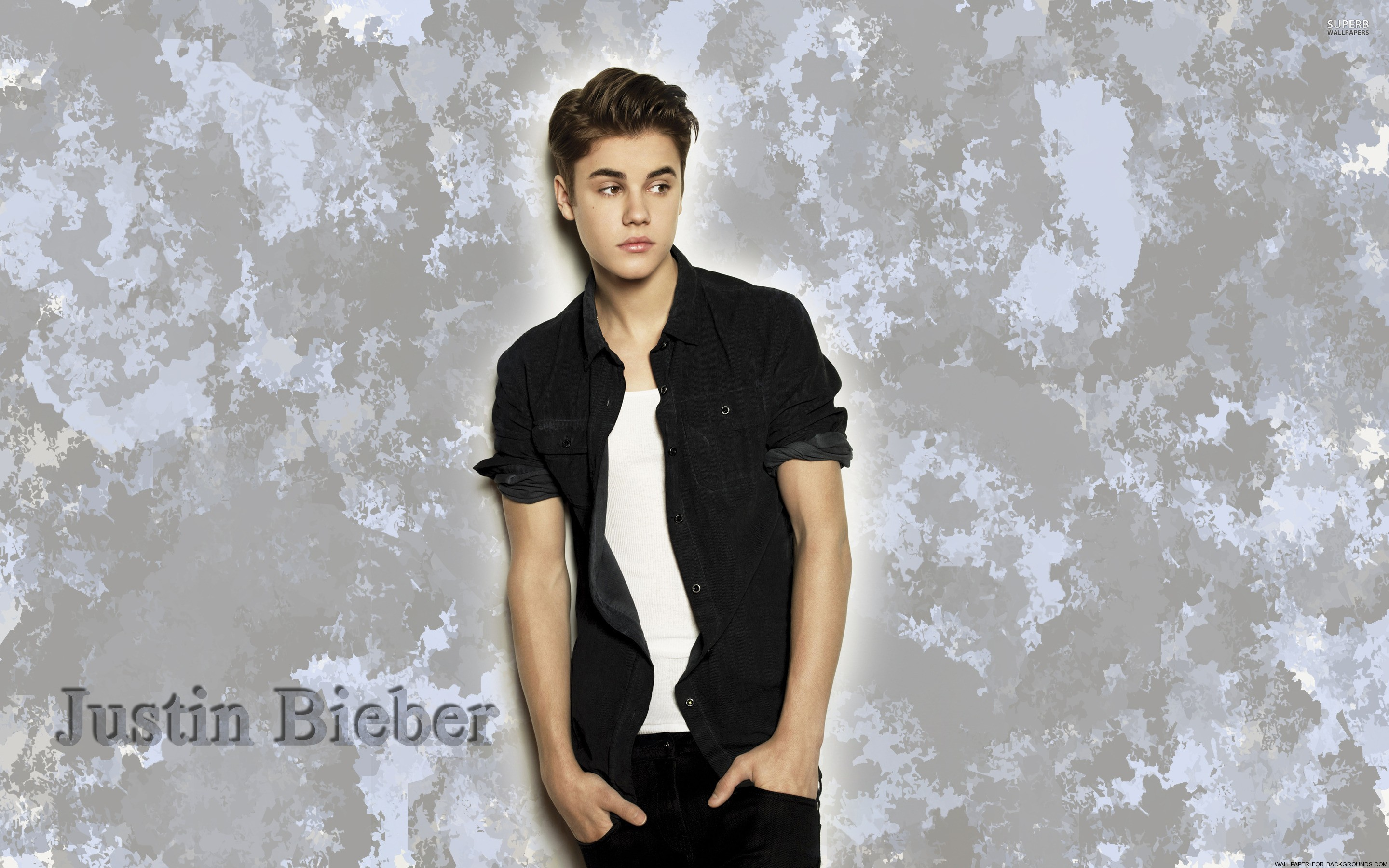 2880x1800 Justin Bieber wallpapers black shirt