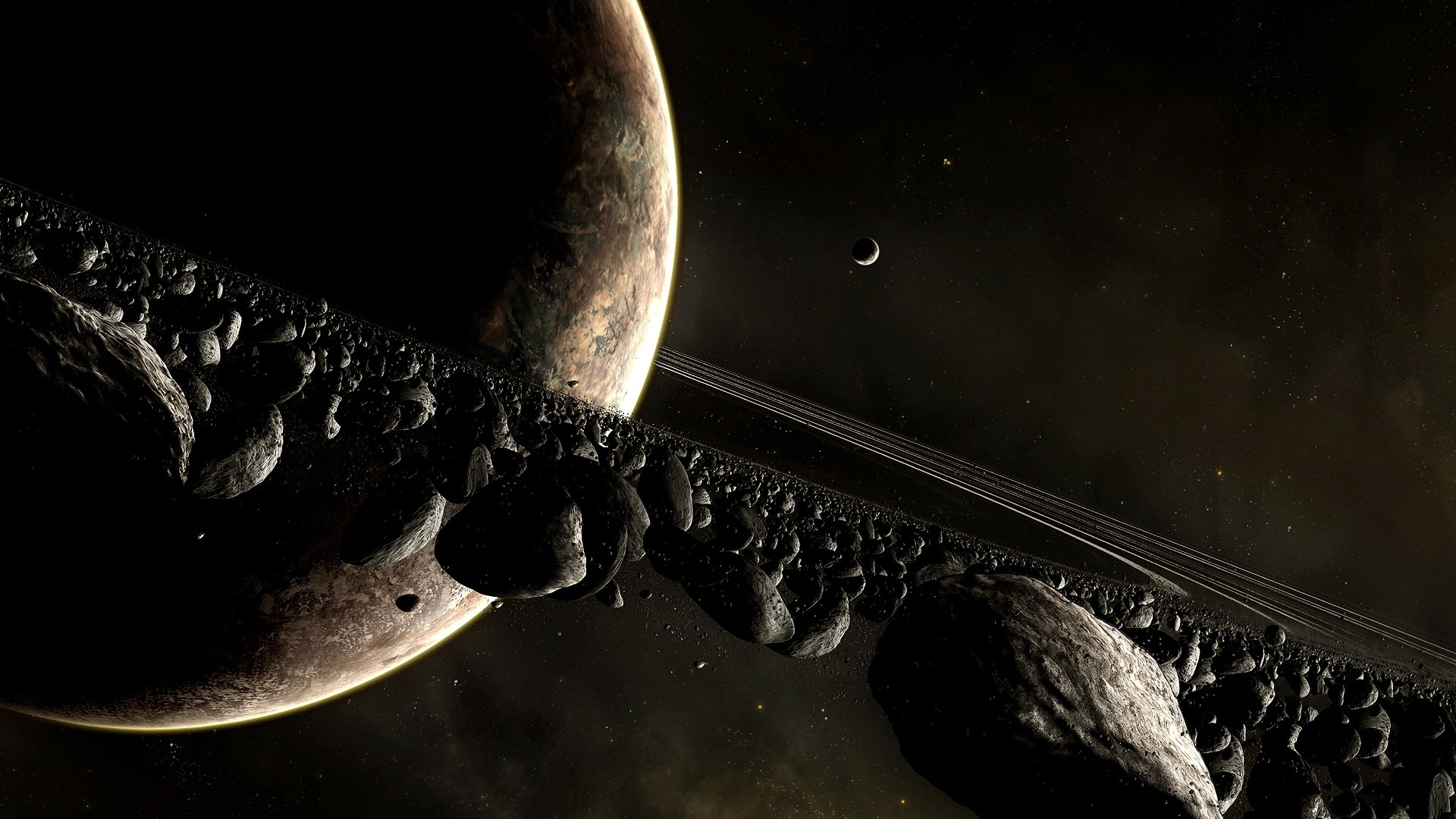 1920x1080  Wallpaper universe planet, planet, disaster, space