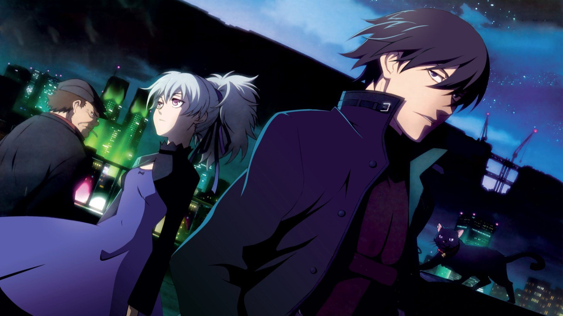 1920x1080 ... Darker Than Black Wallpaper