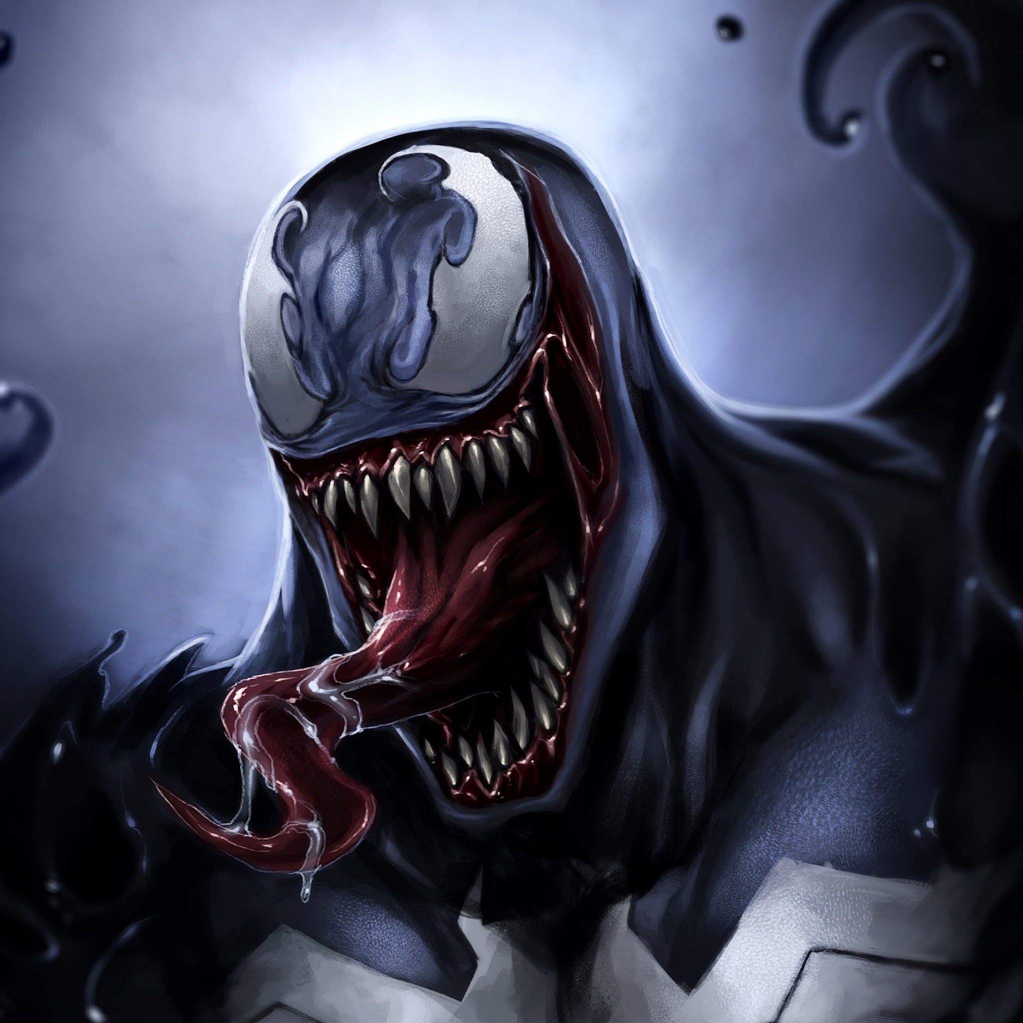 2048x2048 Preview wallpaper venom, eddie brock, art, monster, symbiote