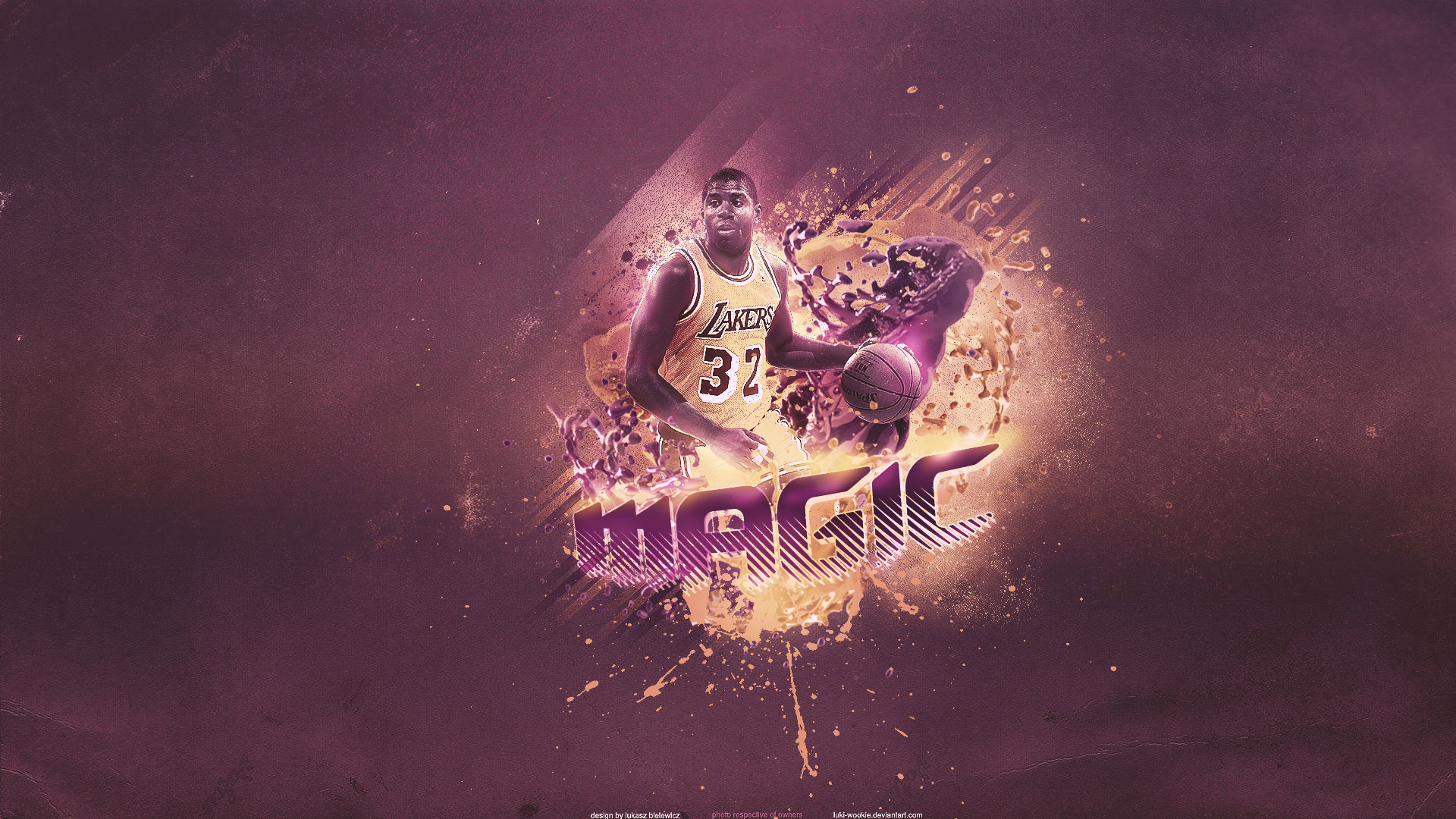 1920x1080 Magic Johnson Lakers  Widescreen Wallpaper