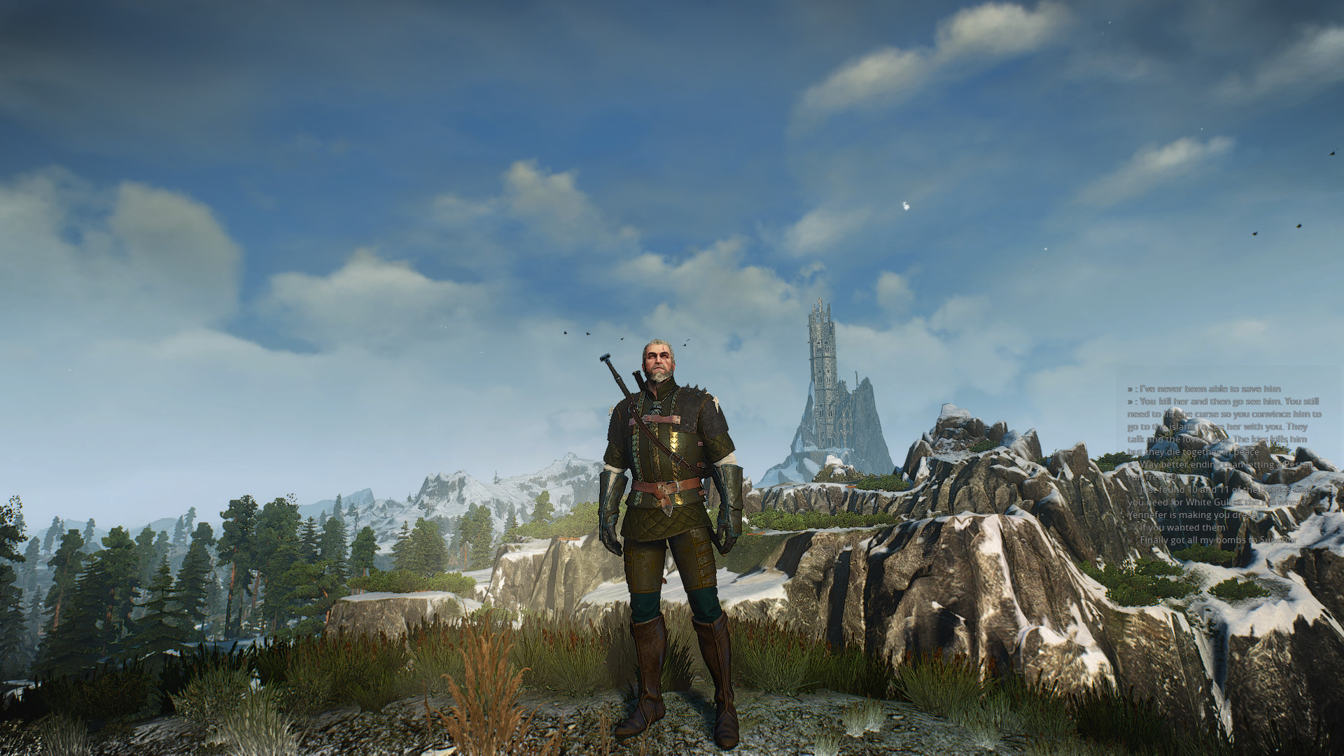 1920x1080 Witcher 3: Journey to the Dark Tower [] [OC] Need #