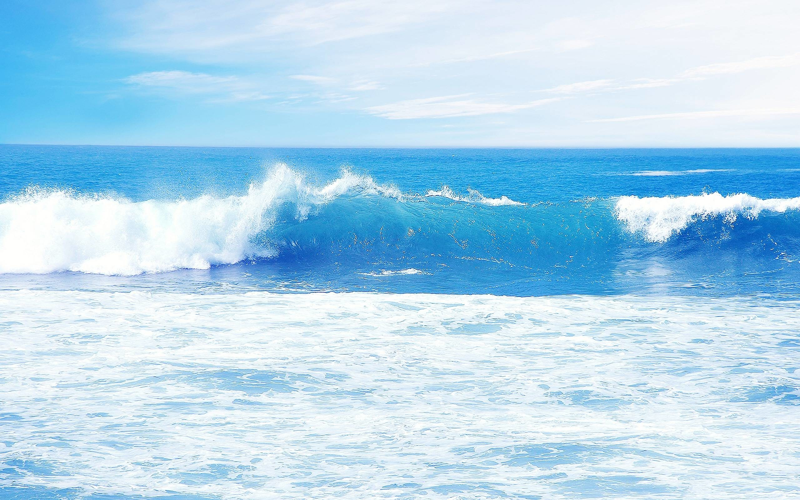 2560x1600 Blue Ocean Waves Wallpapers | Pictures