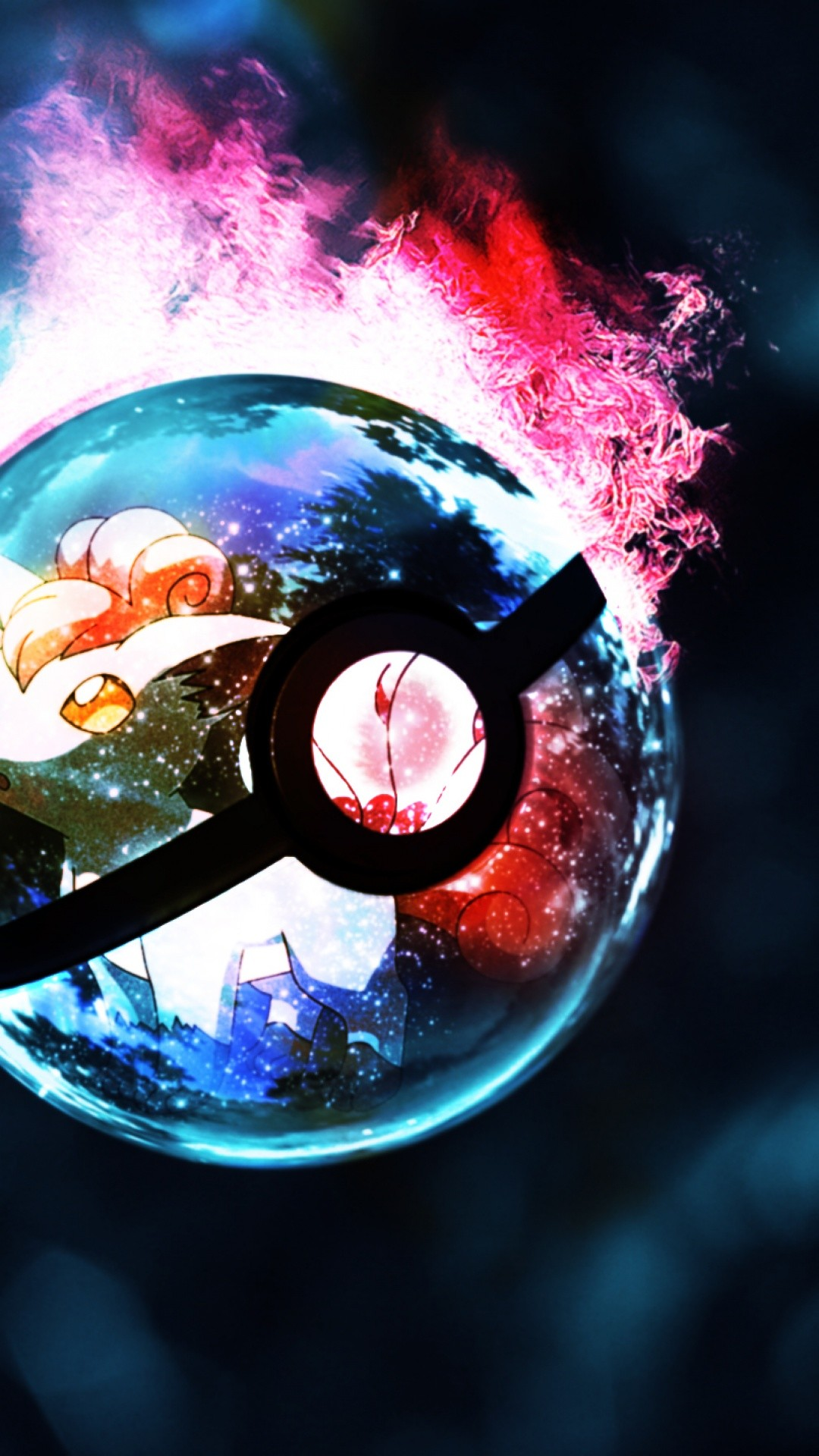 1080x1920 cool-pokemon-go-mobile-wallpapers-pokeball-fire-hd-