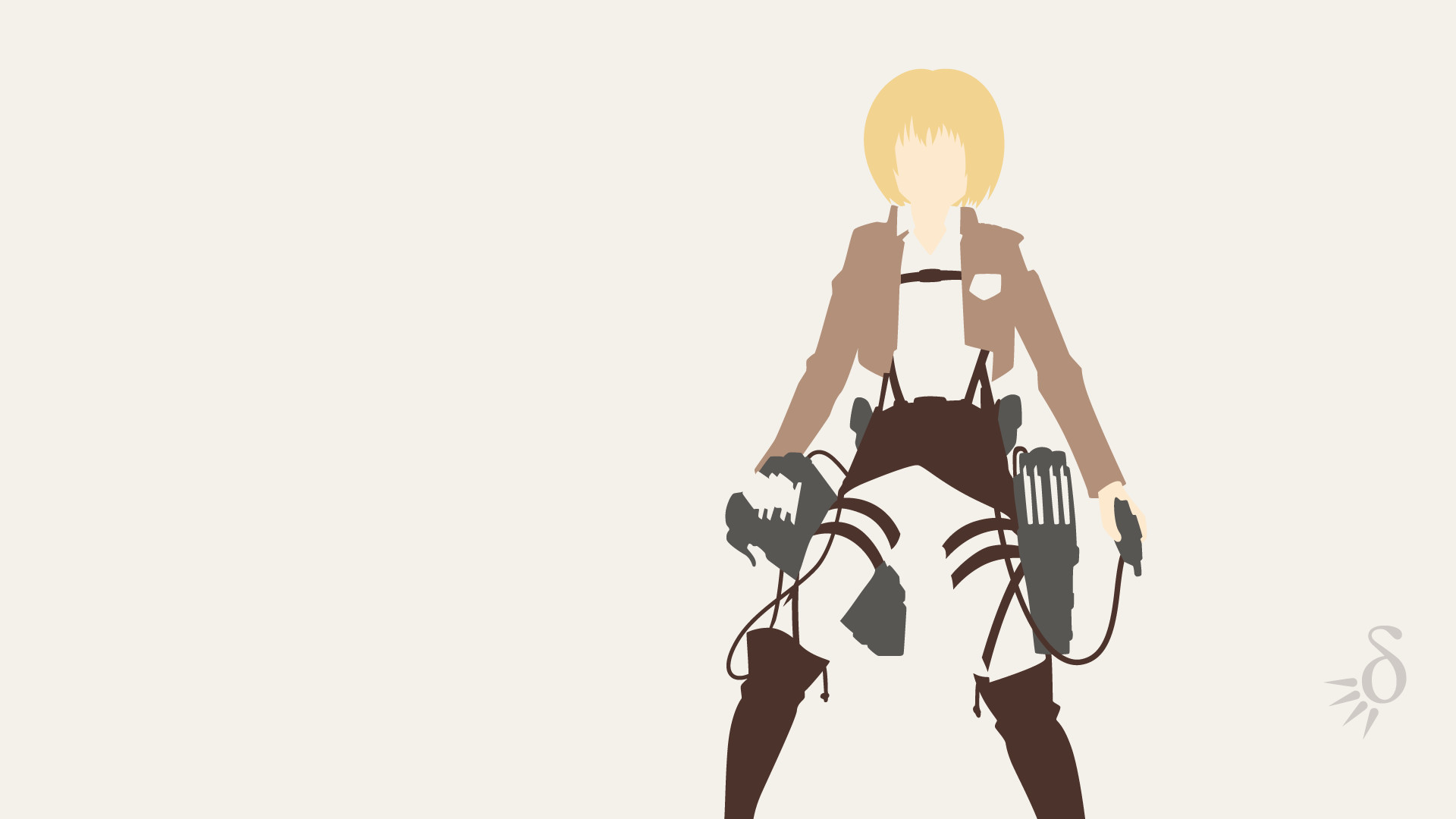 1920x1080 minimalist-Eren by Siruo-87 on DeviantArt | Minimalism | Pinterest |  Minimalist and Anime