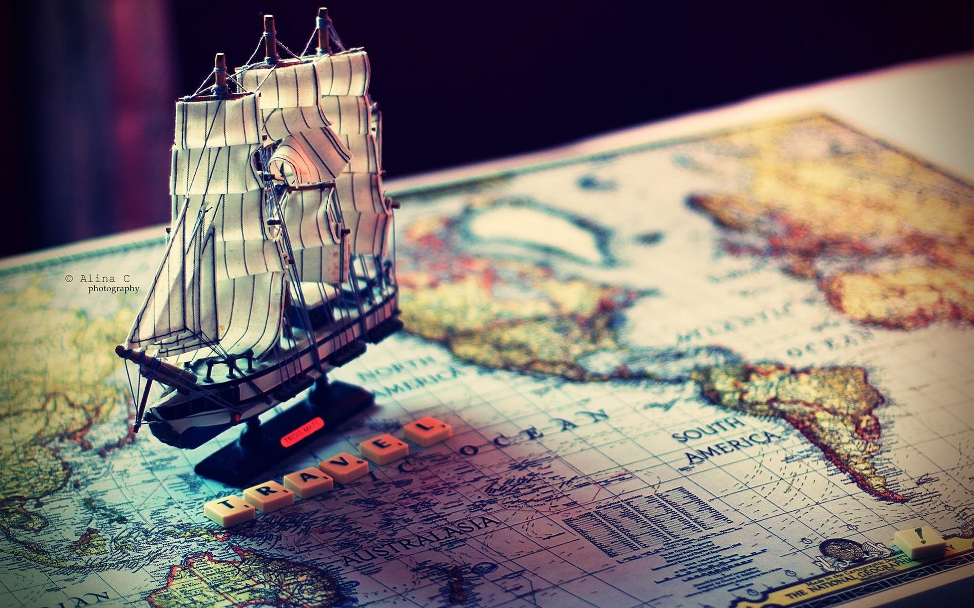 Old World Map Desktop Wallpaper Images - Artistic world map