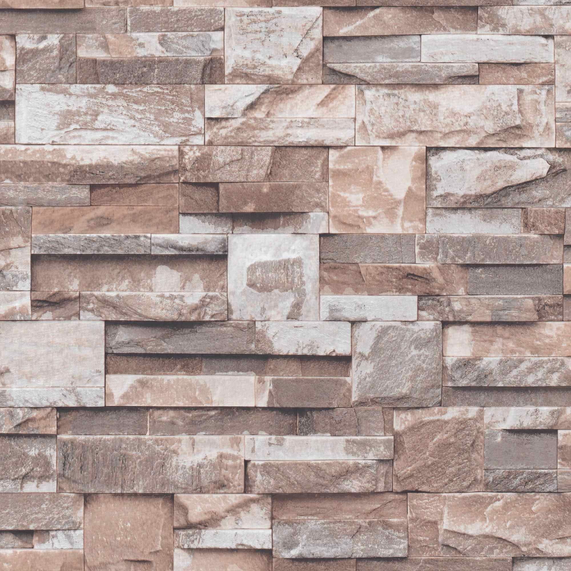 2000x2000 Vinyl 3D Stone Wall Paper Roll Brick Wall Wallpaper for Living Room,  Dinning Room,