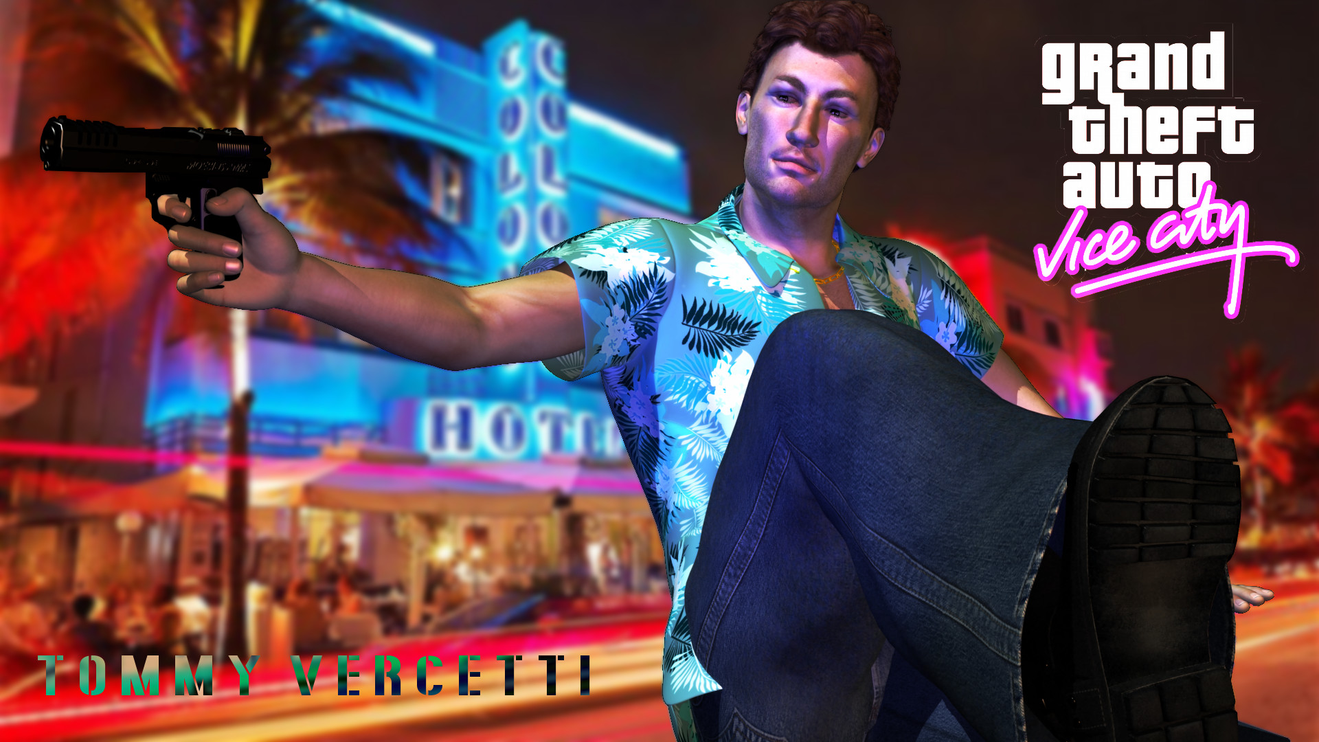 1920x1080 ... Tommy Vercetti from GTA Vice City by guargumi