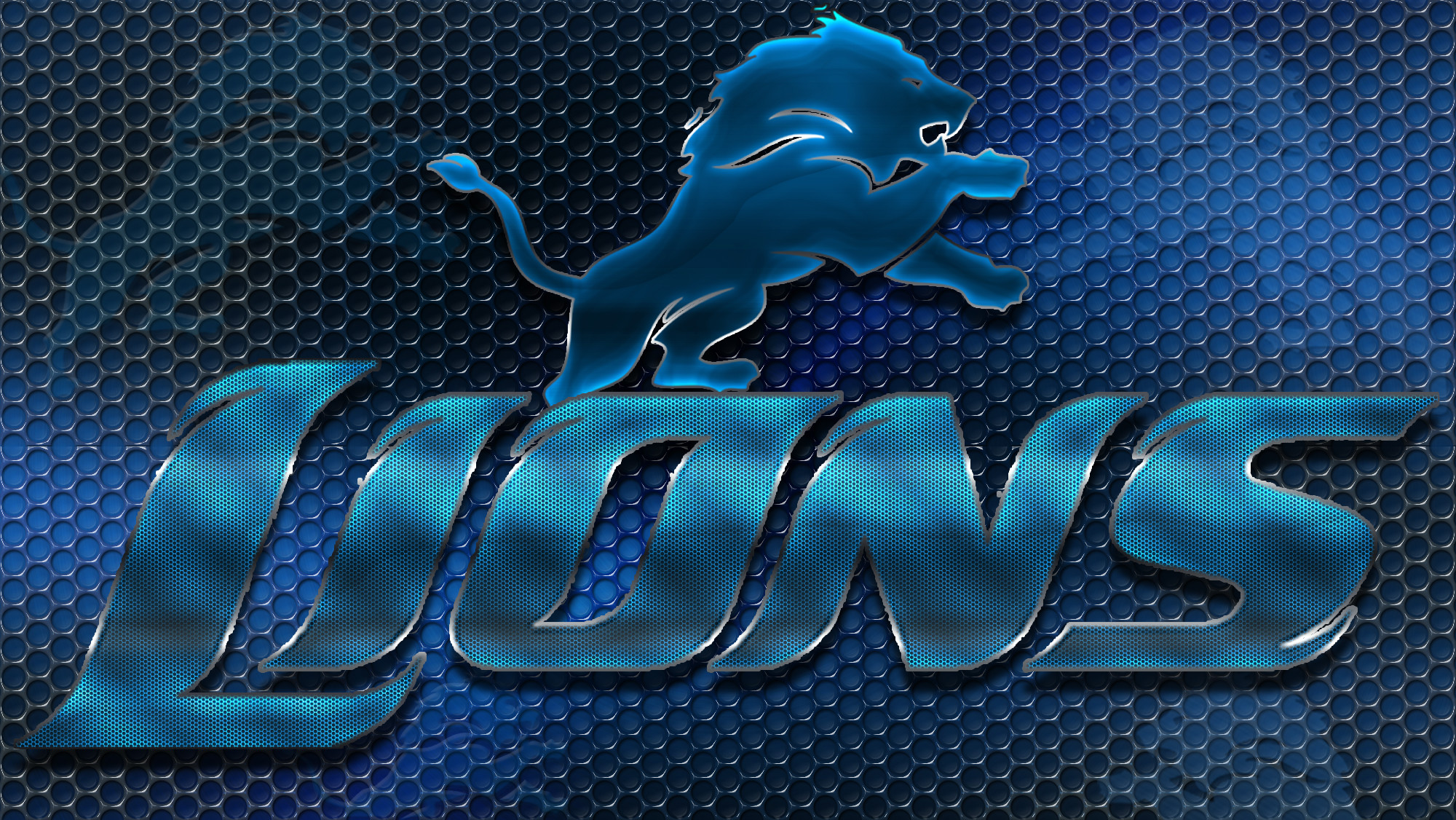 2000x1126 Detroit Lions images Detroit Lions Heavy Metal 16x9 Text N Logo Wallpaper  HD wallpaper and background photos