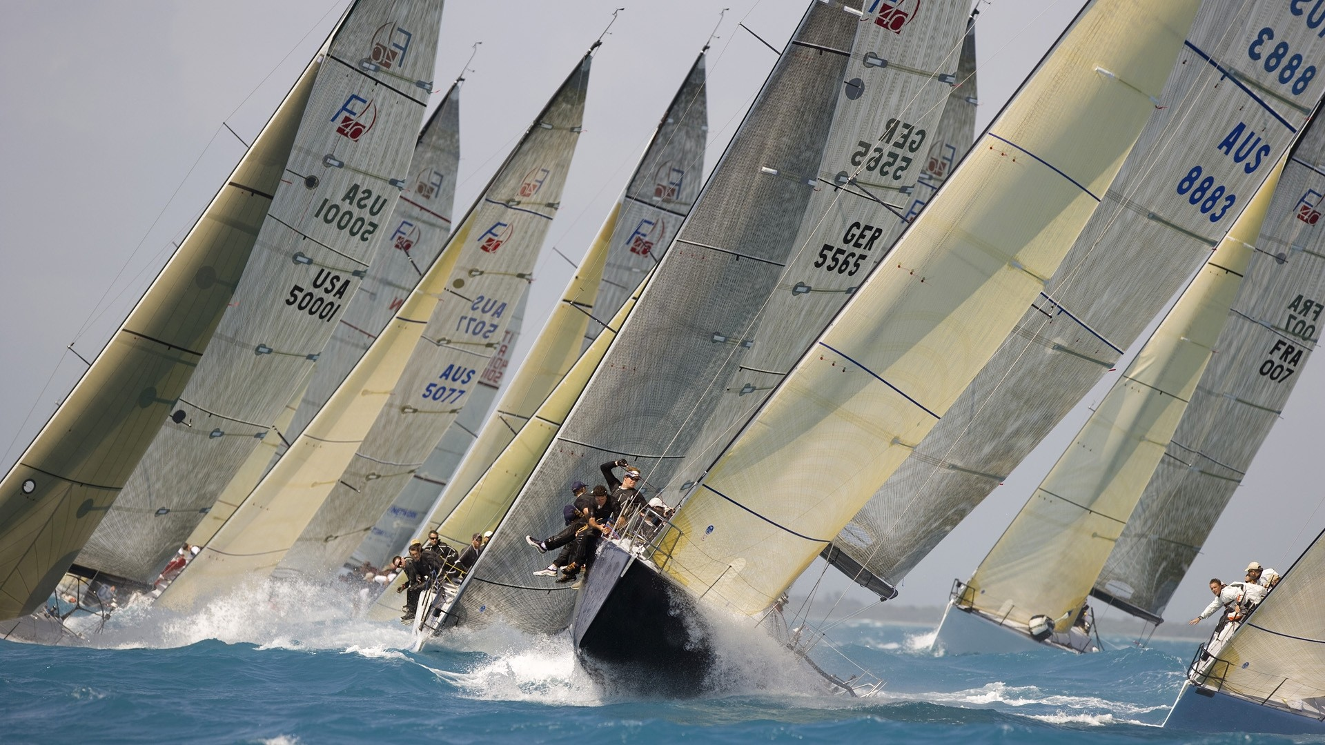 1920x1080 Water Transportation, Sailboat Racing, Sailboat, Sailing Yacht, Yacht  Racing Wallpaper in