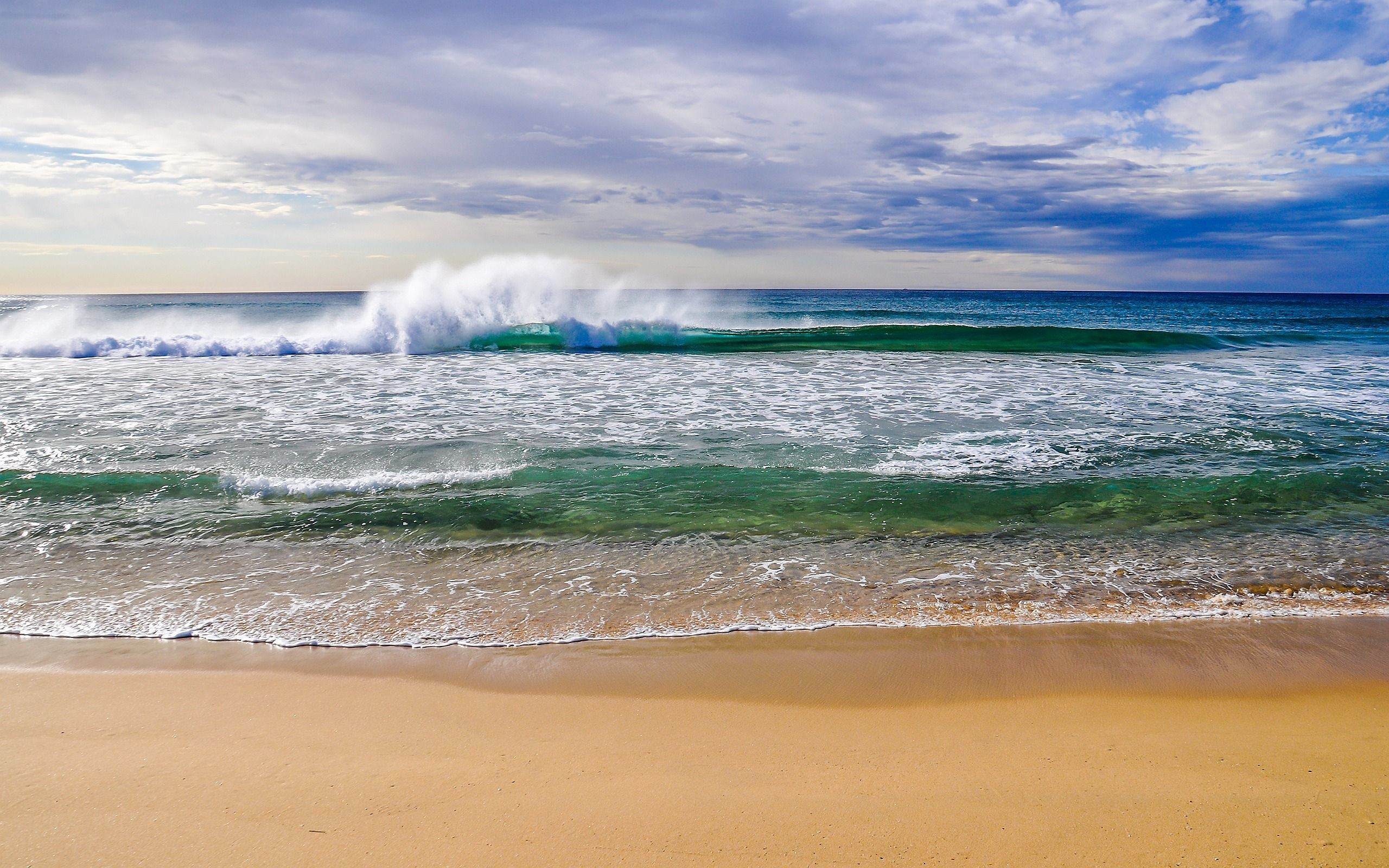 2560x1600 beach waves | Beautiful Beach Waves Wallpapers Pictures Photos Images